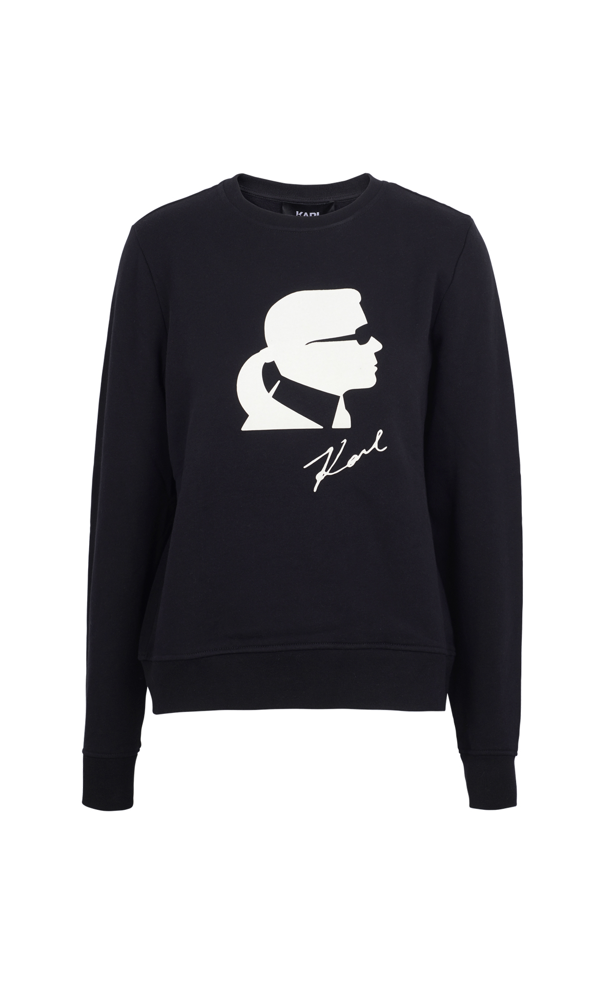 Black sweater with Karl Karl Lagerfedl