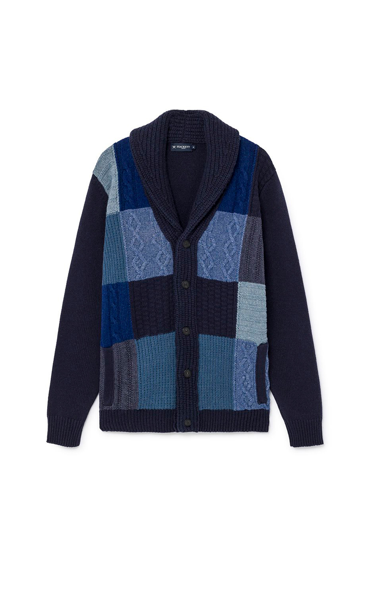 Patchwork cardigan Hackett