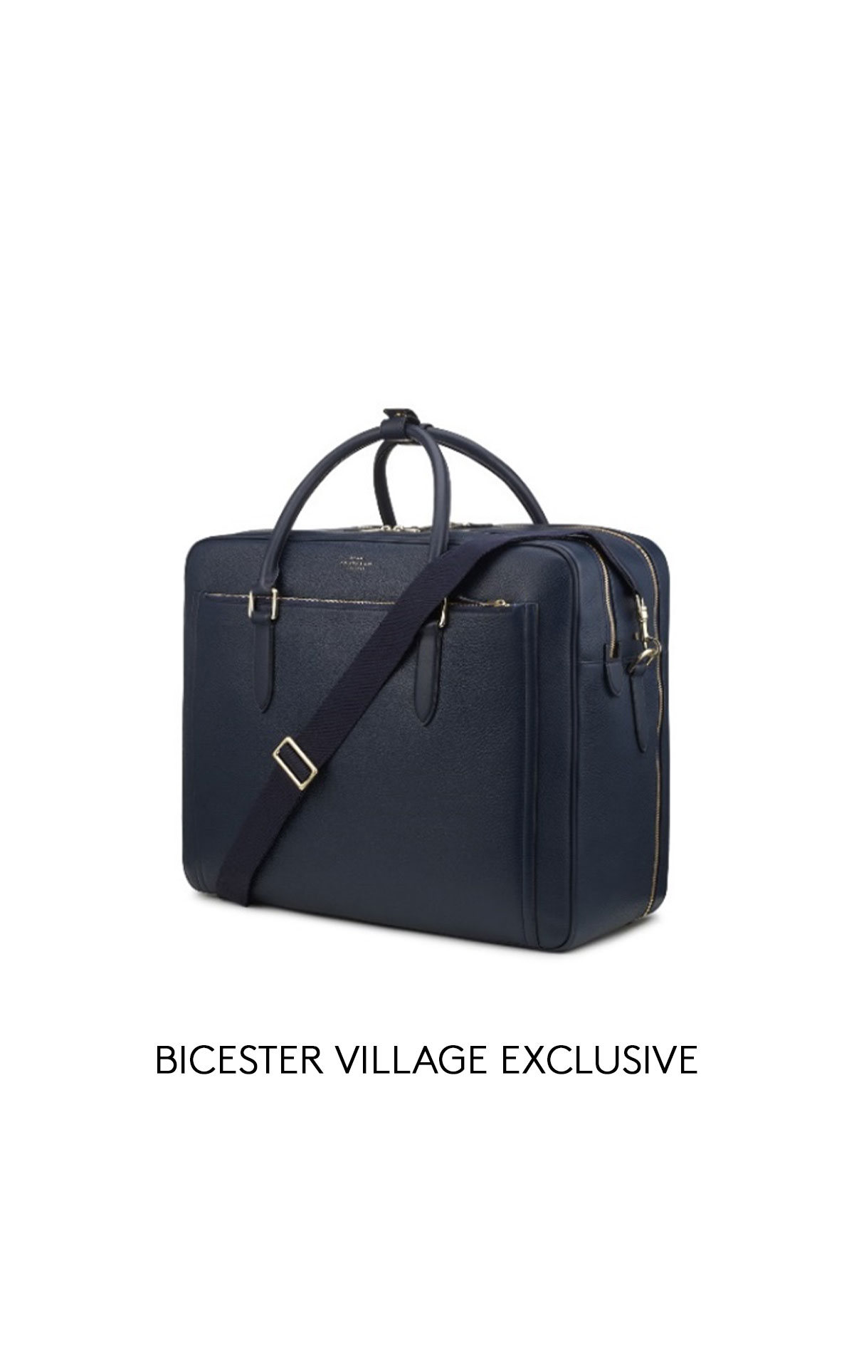 Smythson Burlington zip front briefcase from Bicester Village