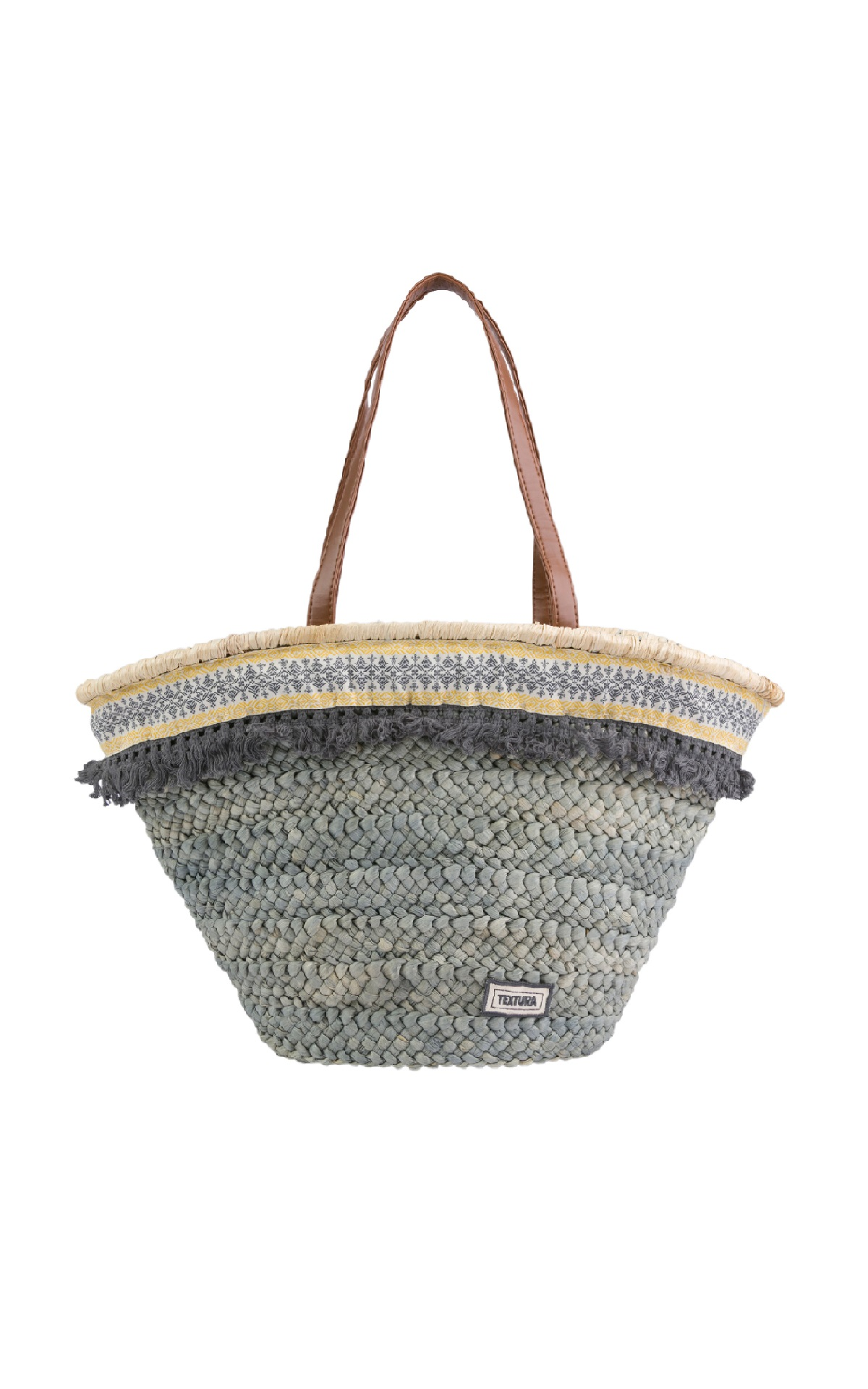Gray wicker carrycot for woman Textura