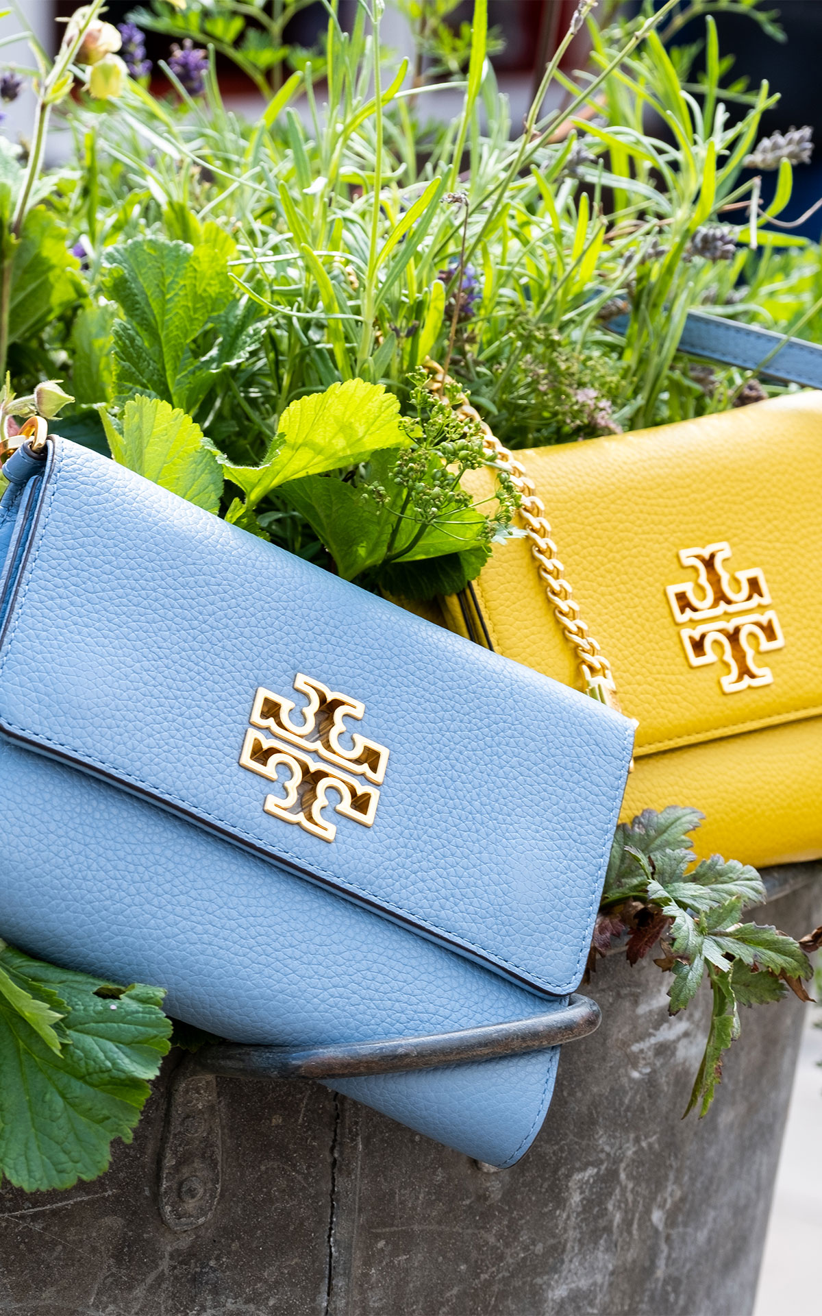 Statement accessories Tory Burch bags at Bicester Village
