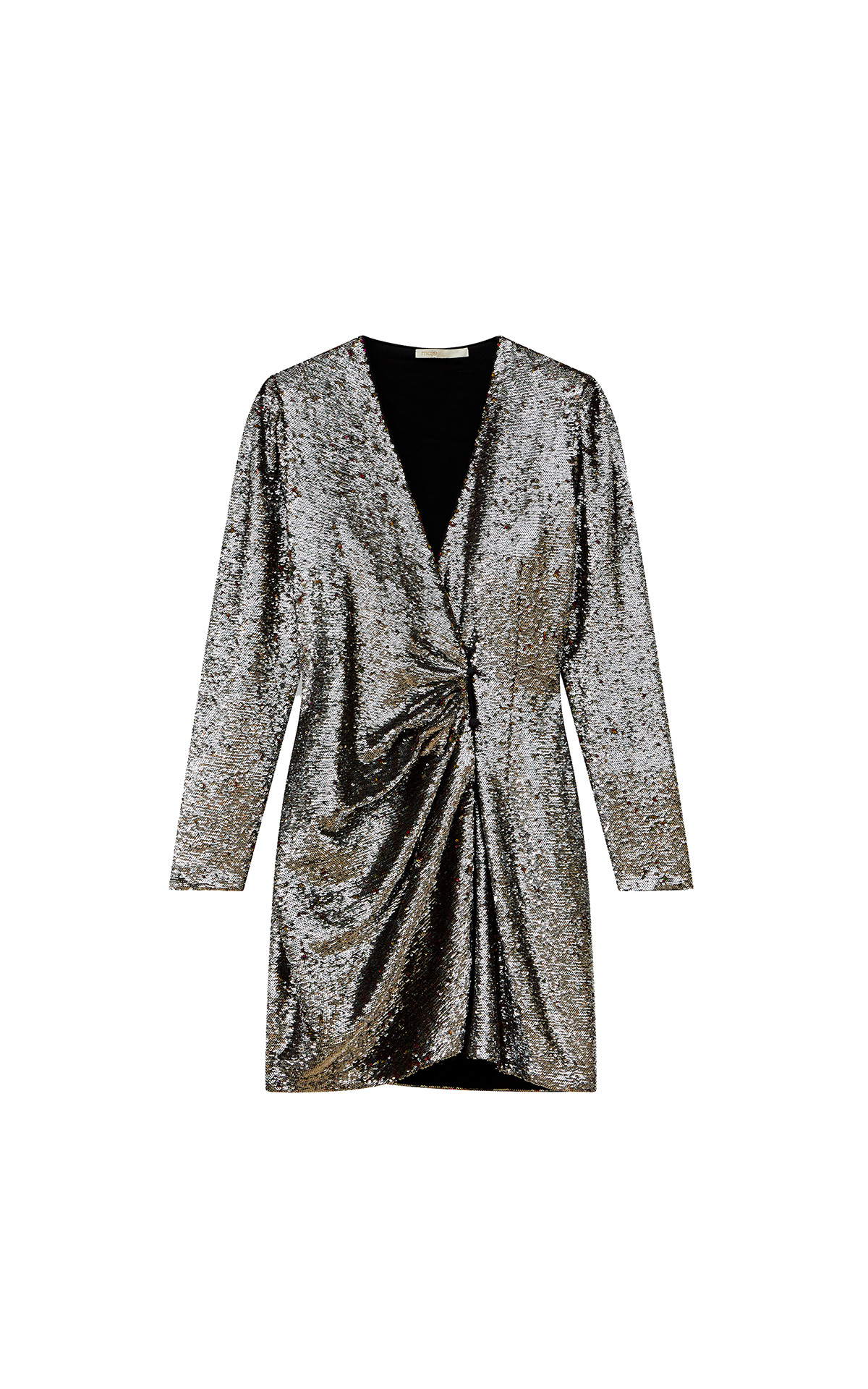 Maje Sequin eveningdress in silver at The Bicester Village Shopping Collection