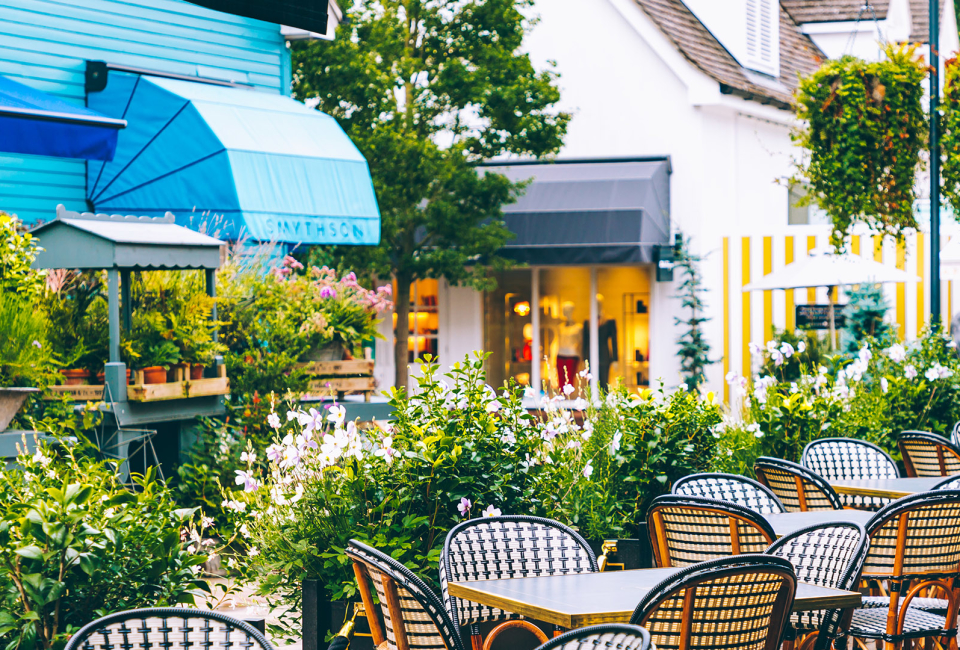 Bicester Village shopping experience relaxing dining