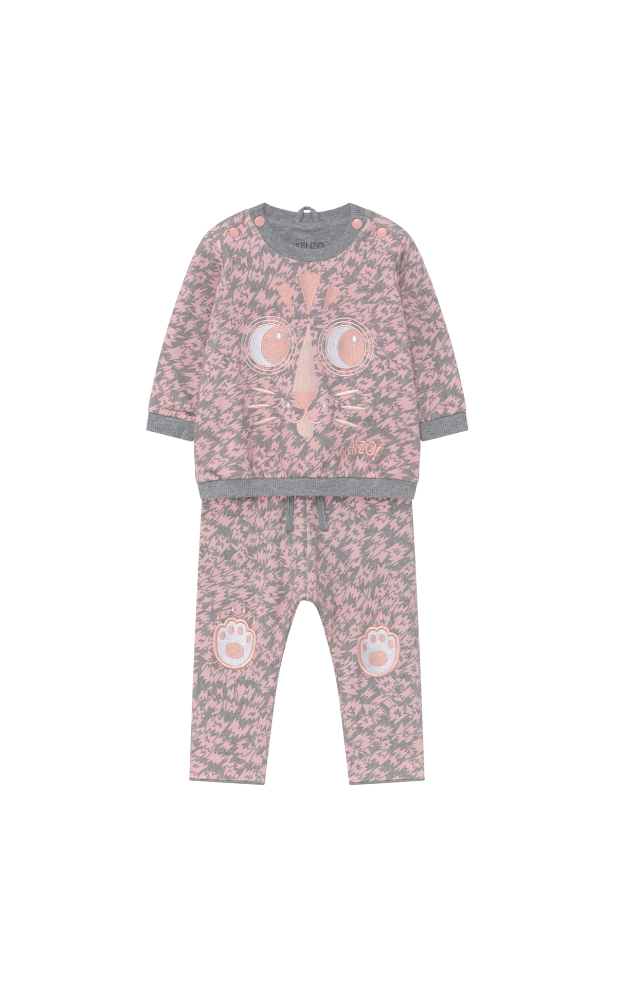 Grey and pink Kenzo baby set Kidiliz