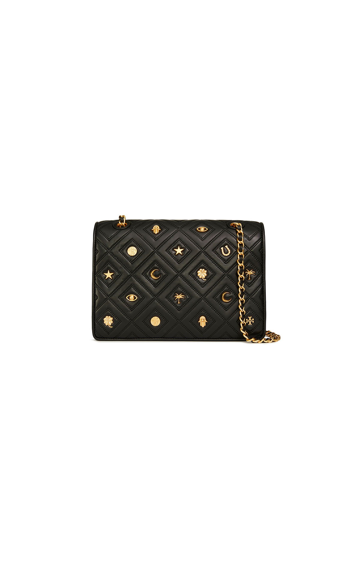 Tory Burch Fleming charm large convertible shoulder bag in black at The Bicester Village Shopping Collection