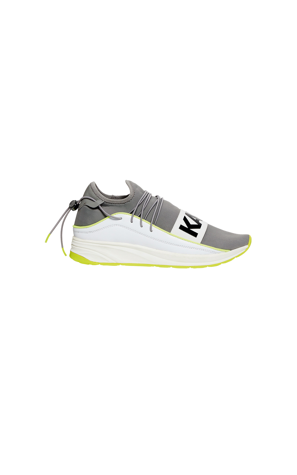 KARL LAGERFELD men's Vektor Karl Band Neon Trainers at The Bicester Village Shopping Collection