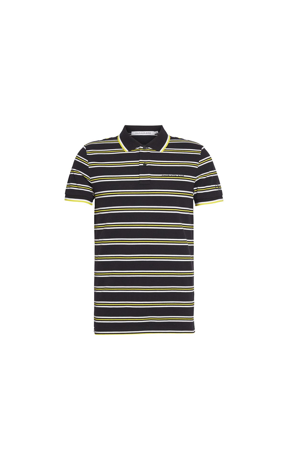 Calvin Klein Mens EO/Instit Strip Polo at the Bicester Village Shopping Collection