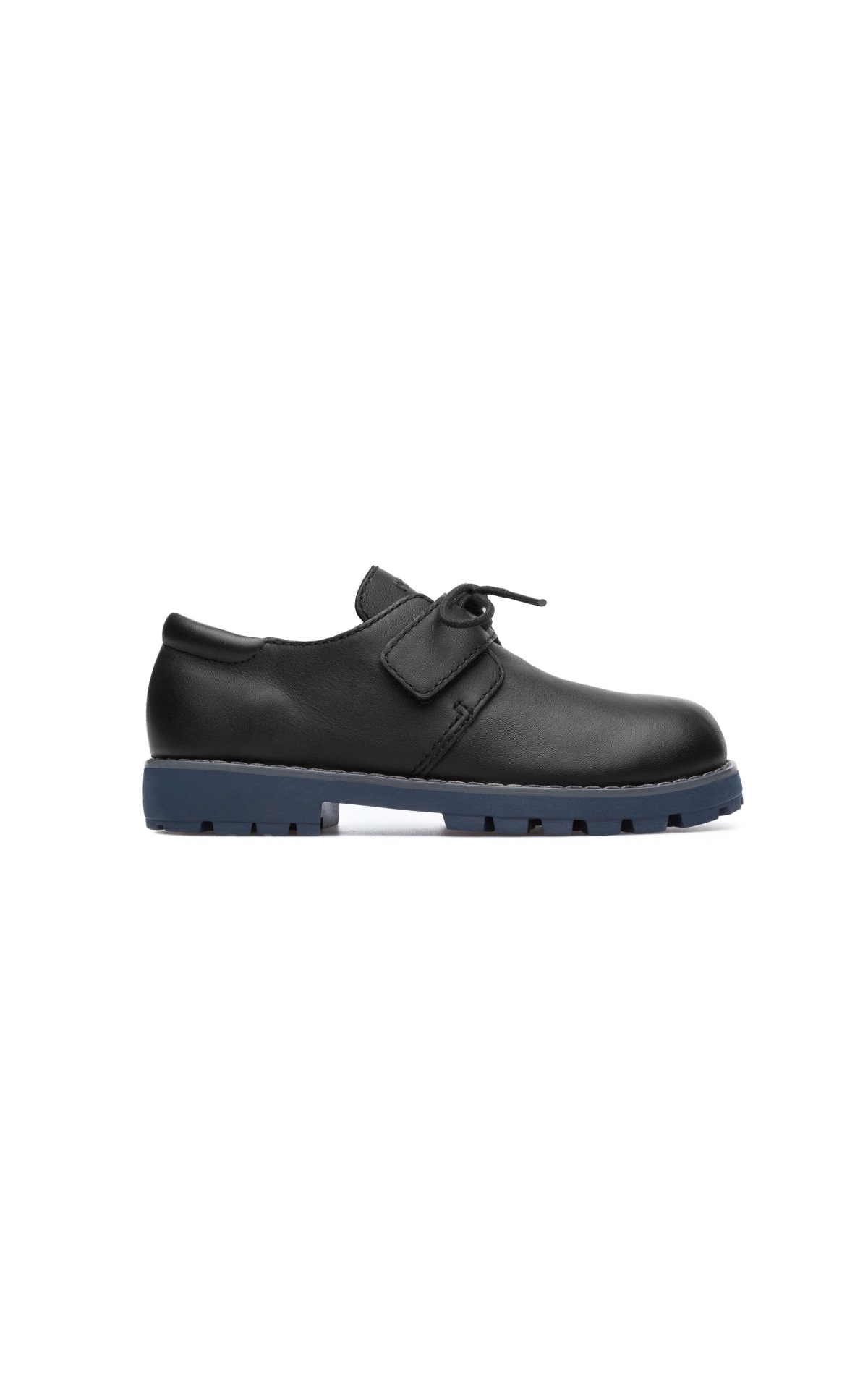 Black leather shoes children Camper