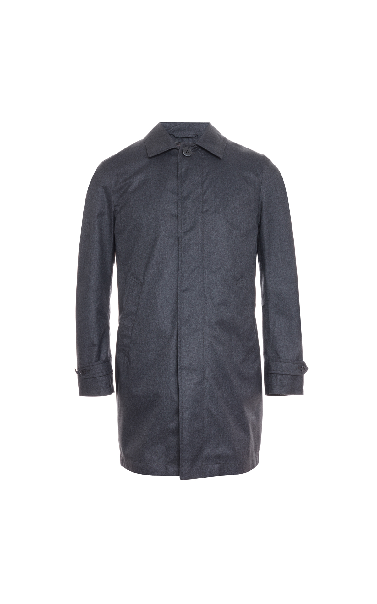 Savoy Taylors Guild Charcoal quilted raincoat from Bicester Village
