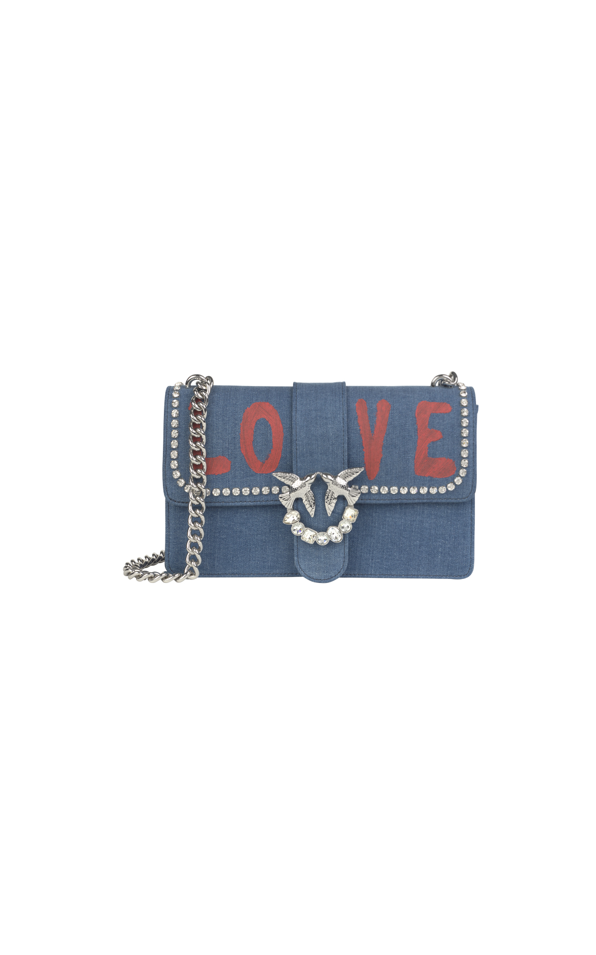 Small denim bag LOVE for woman Pinko