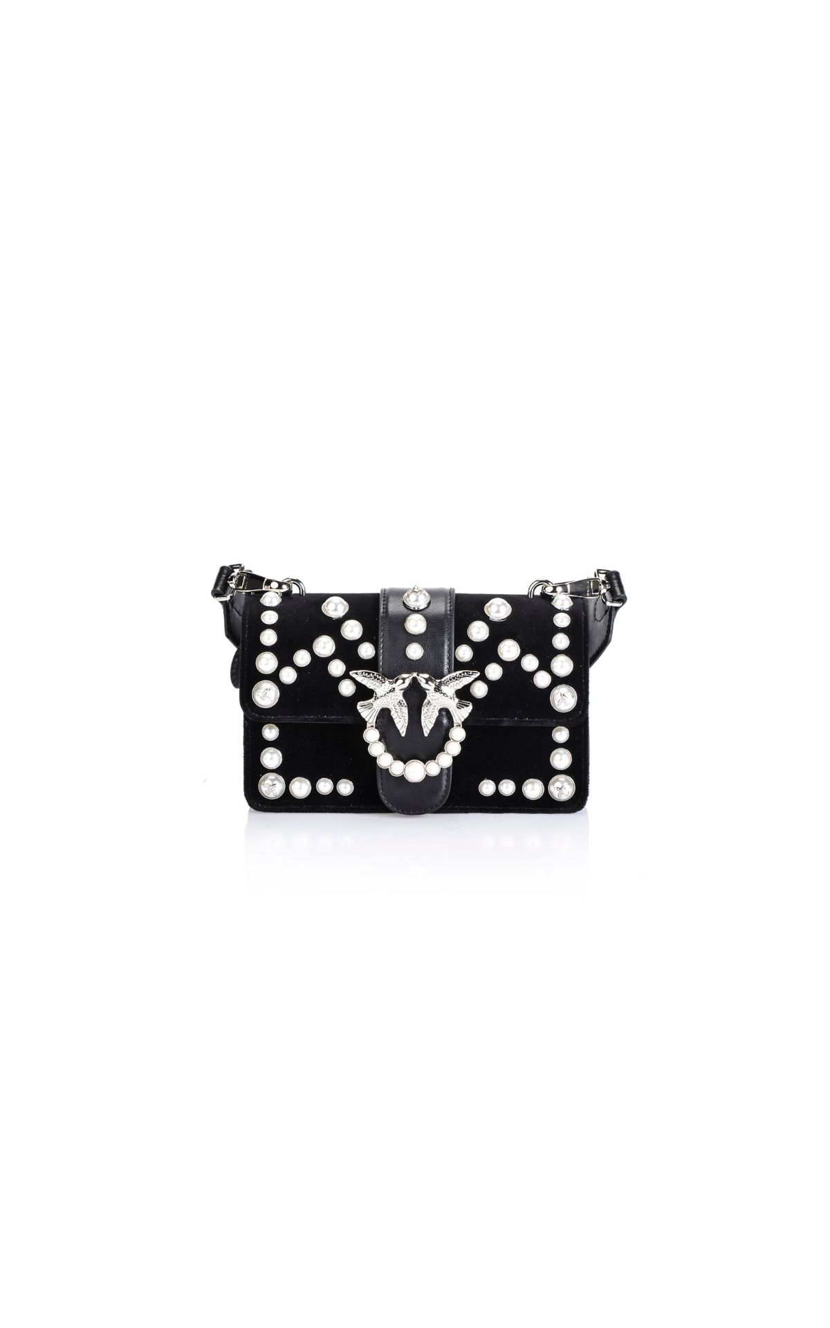 Black bag withe pearls LOVE for woman Pinko