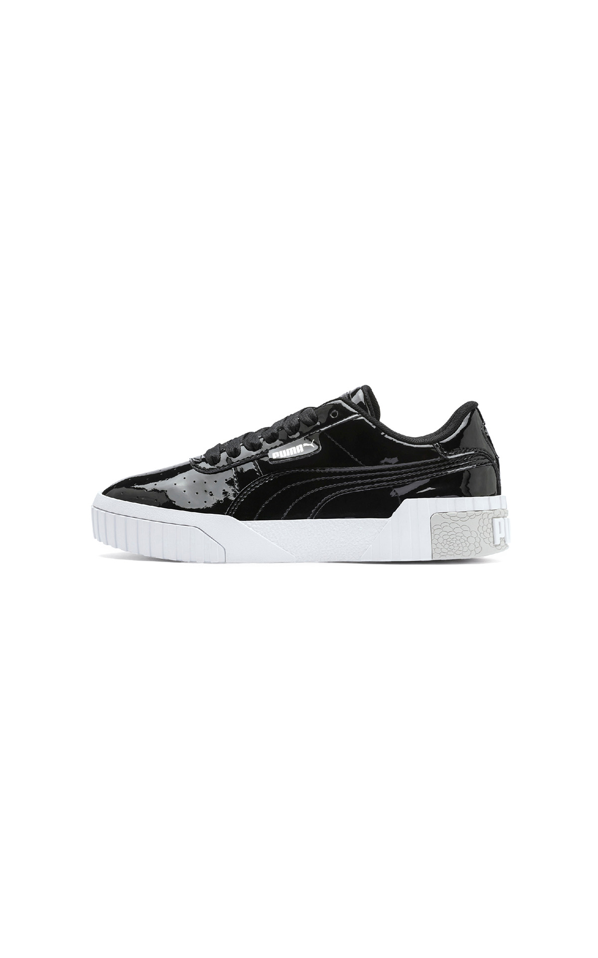 PUMA Cali patent junior in black and white at The Bicester Village Shopping Collection