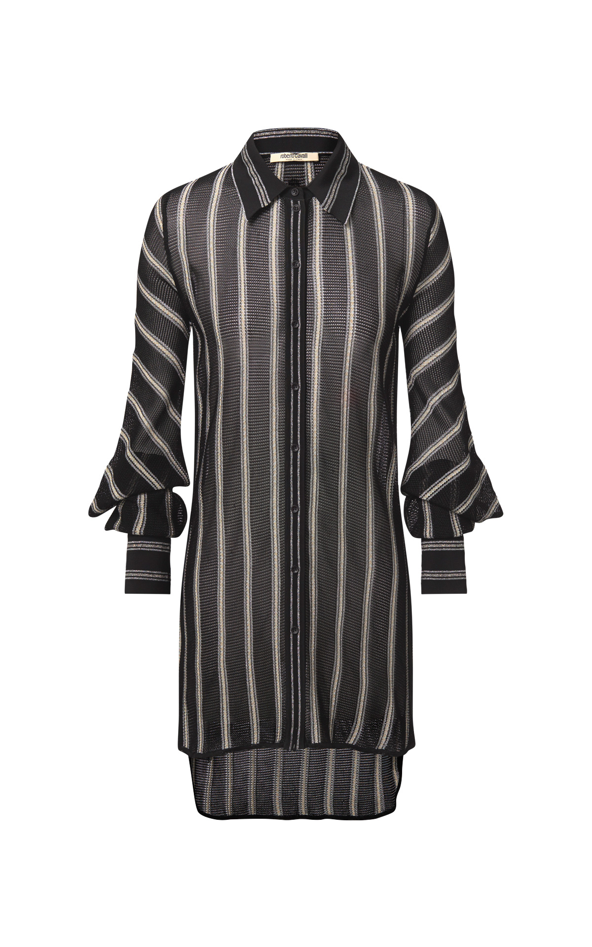 Black stripe shirt woman Roberto Cavalli