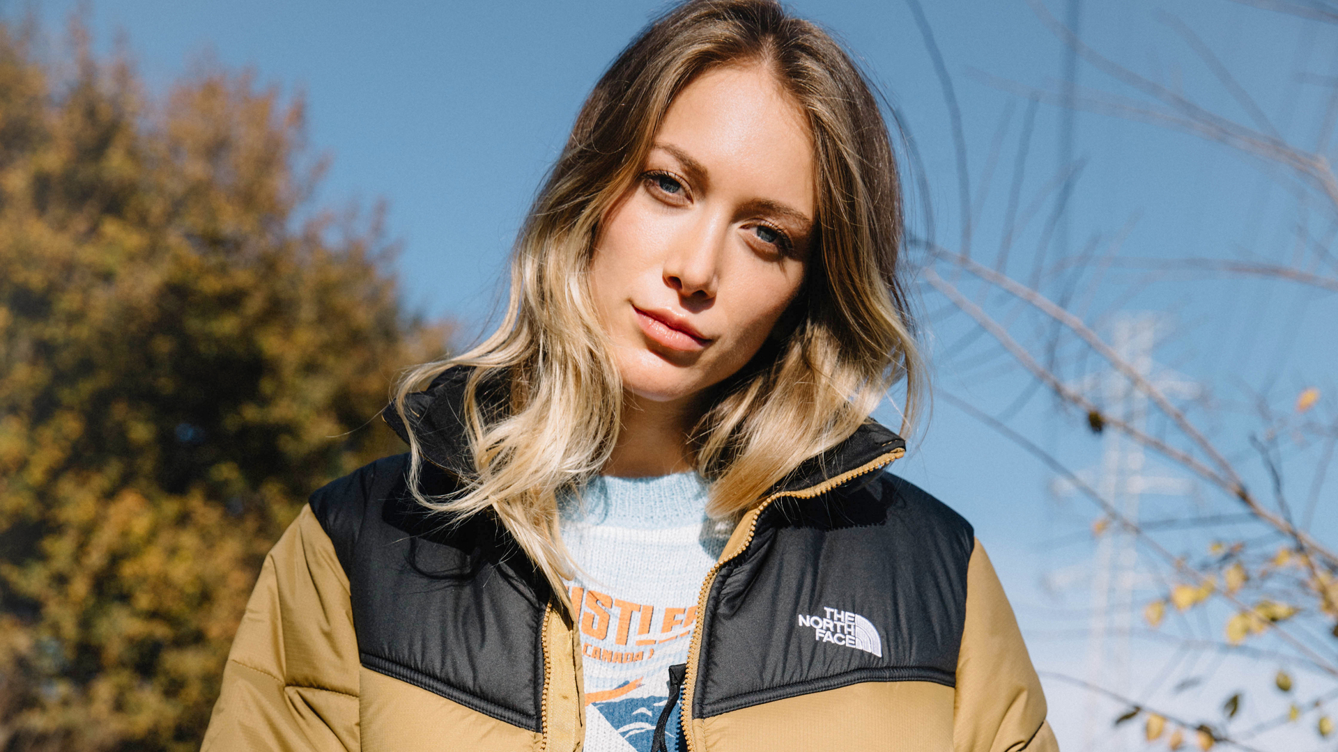 Woman with a The North Face jacket