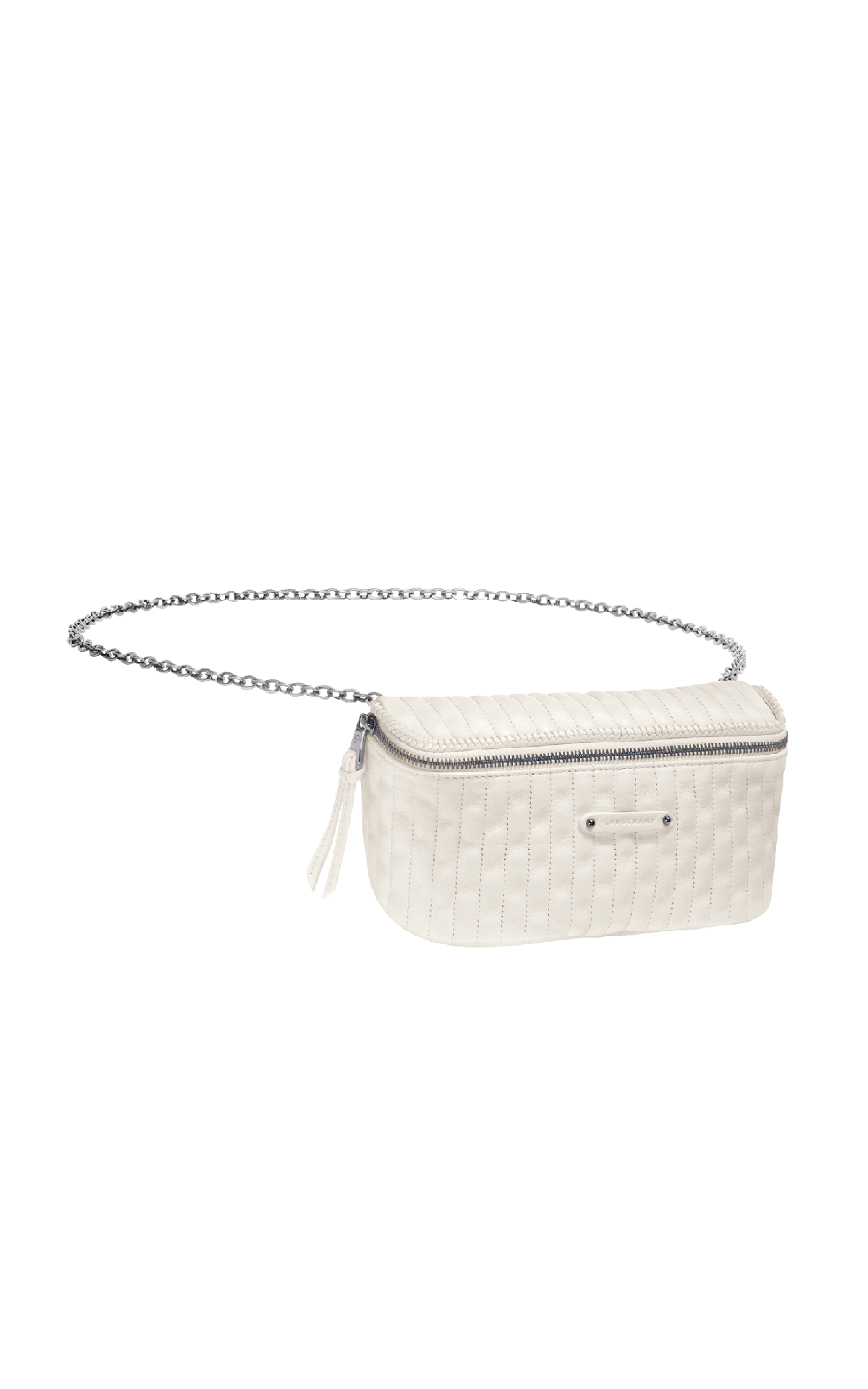 White leather bum bag Longchamp