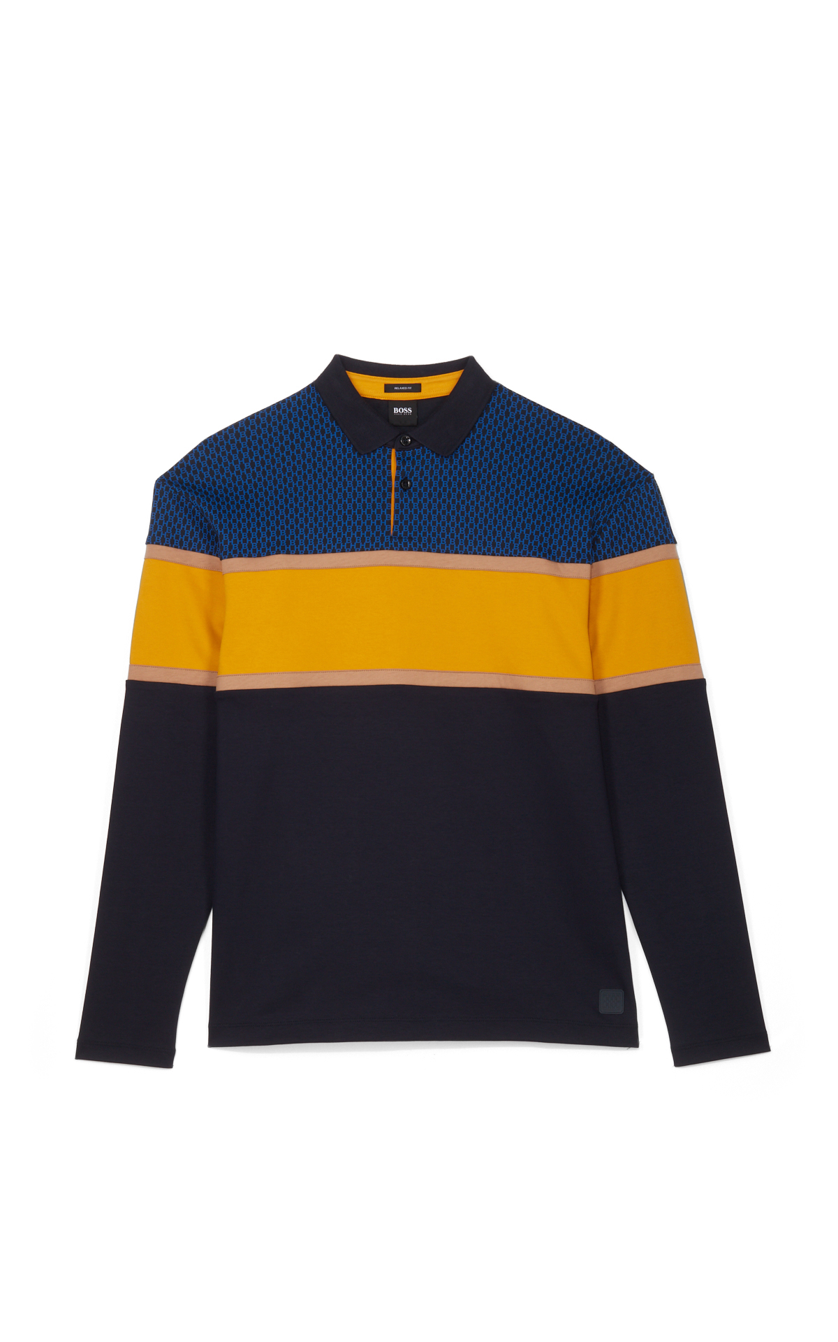 BOSS Dark blue polo sweatshirt