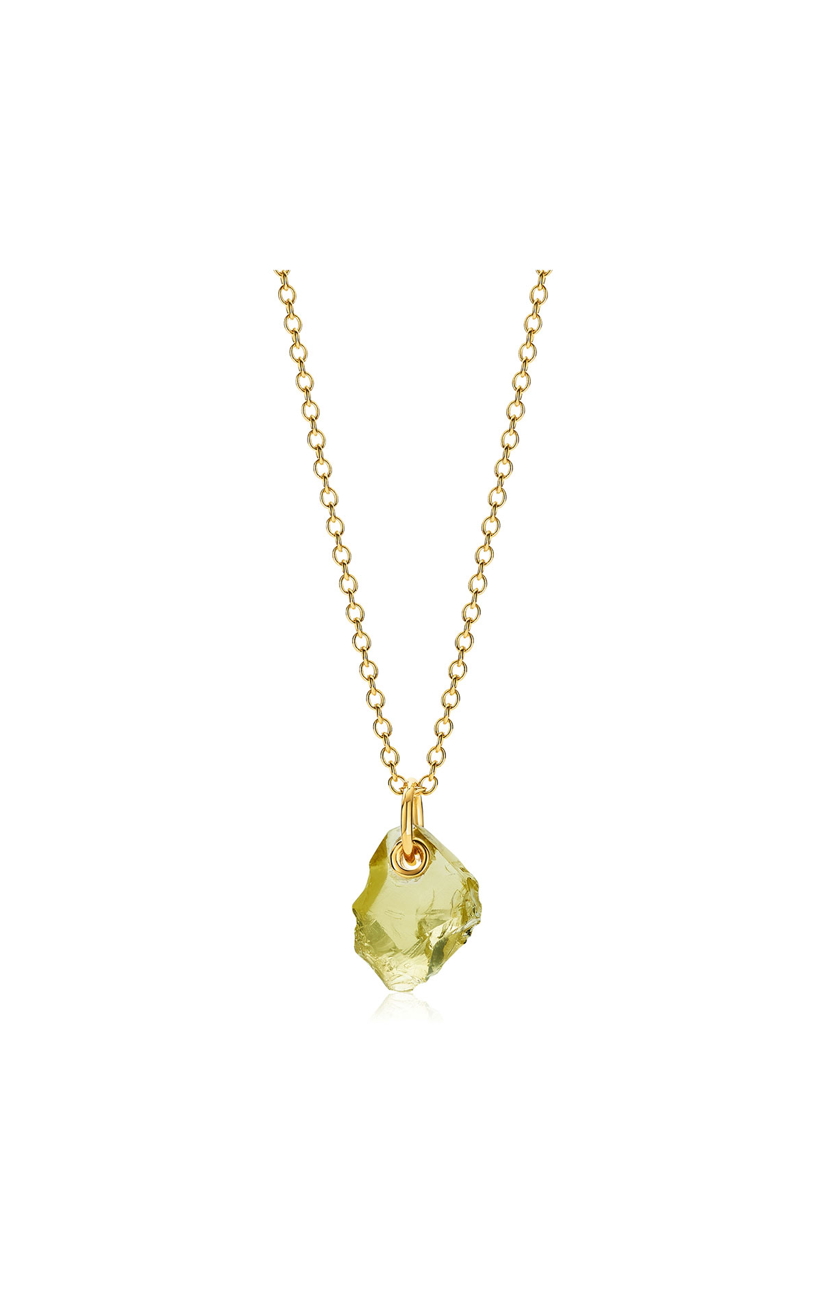 Monica Vinader Gold vermeil gemstone large pendant adjustable necklace  - lemon quartz from Bicester Village