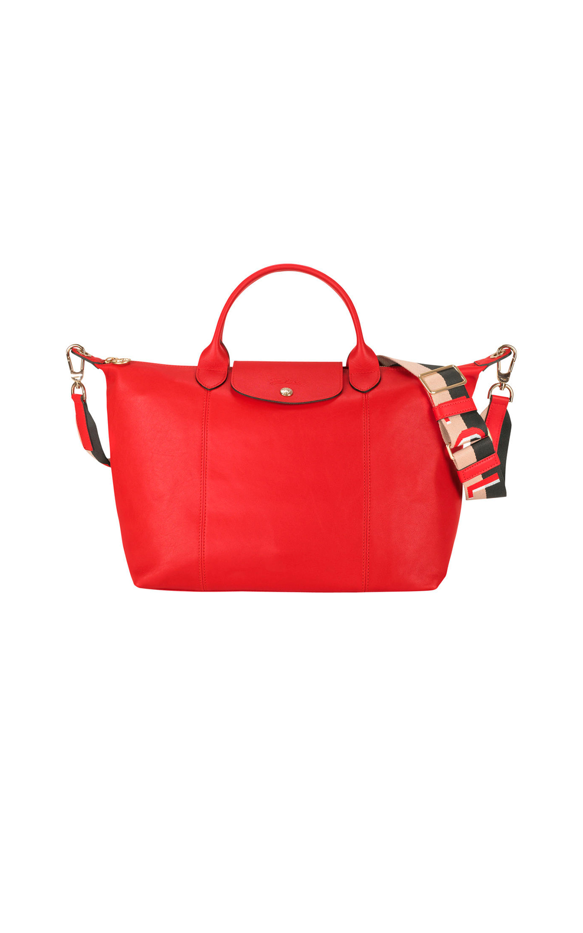 Red Pliage bag Longchamp