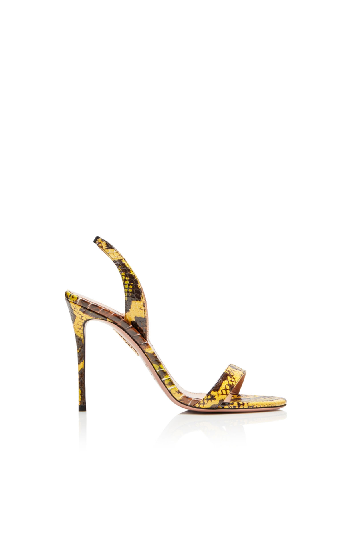 Aquazzura So nude sandal 105 yellow from Bicester Village