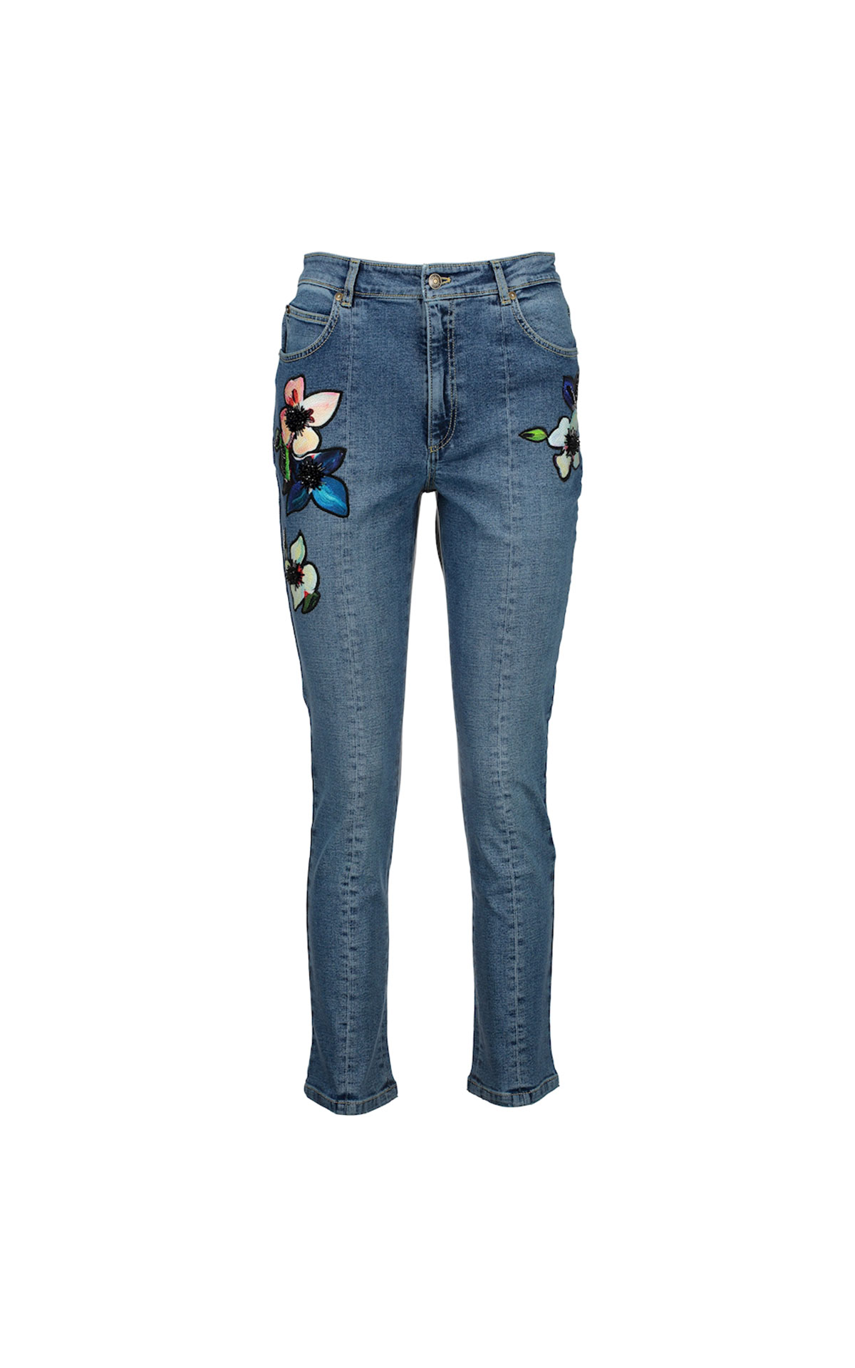 Escada Jeans with flowers from Bicester Village