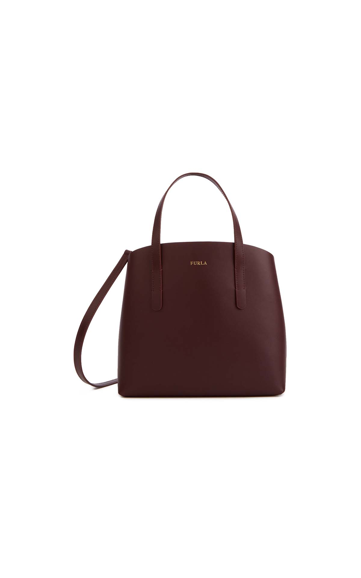 Furla paradise small tote in burgundy at The Bicester Village Shopping Collection