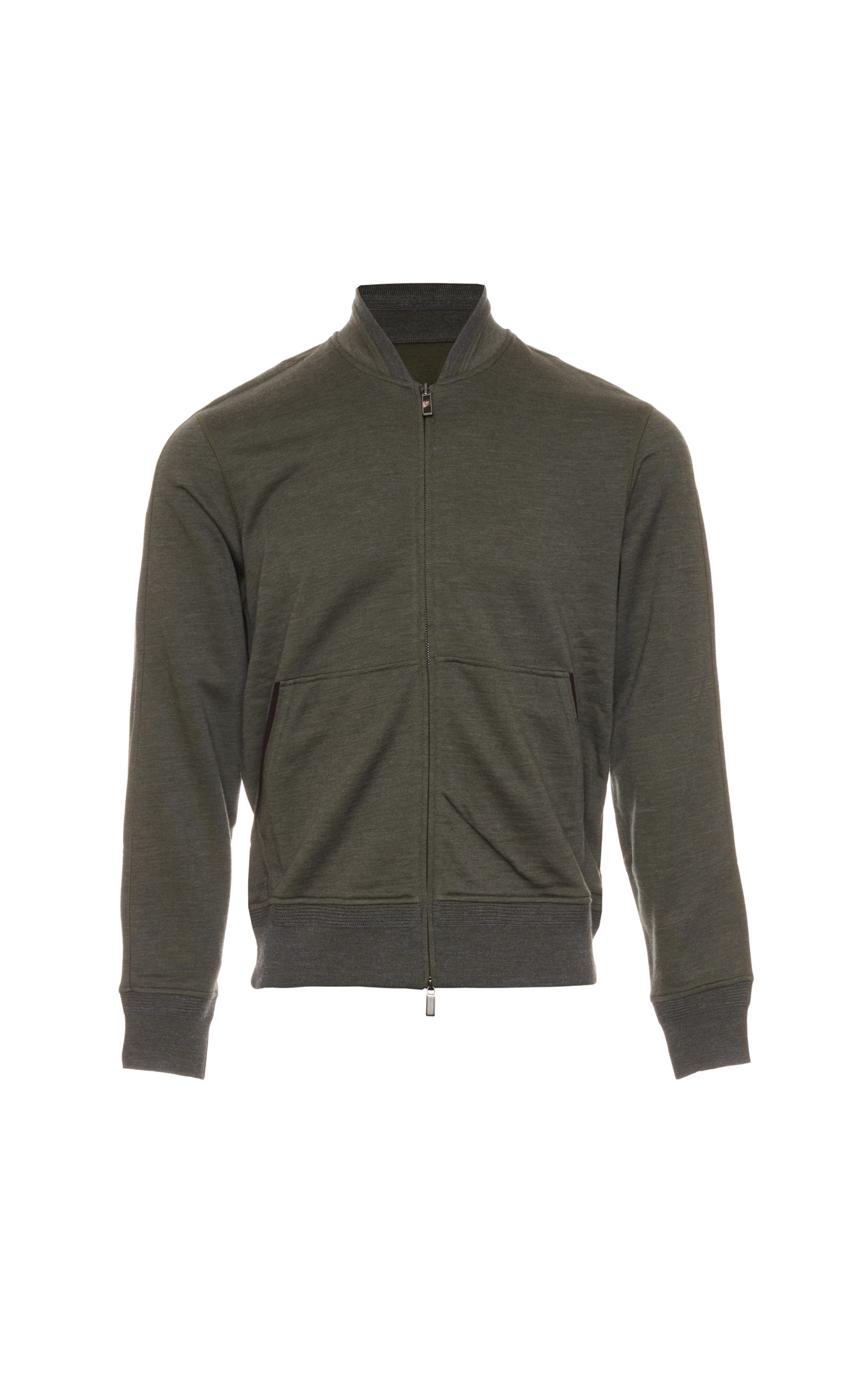 Ermenegildo Zegna Zip up green knitwear from Bicester Village