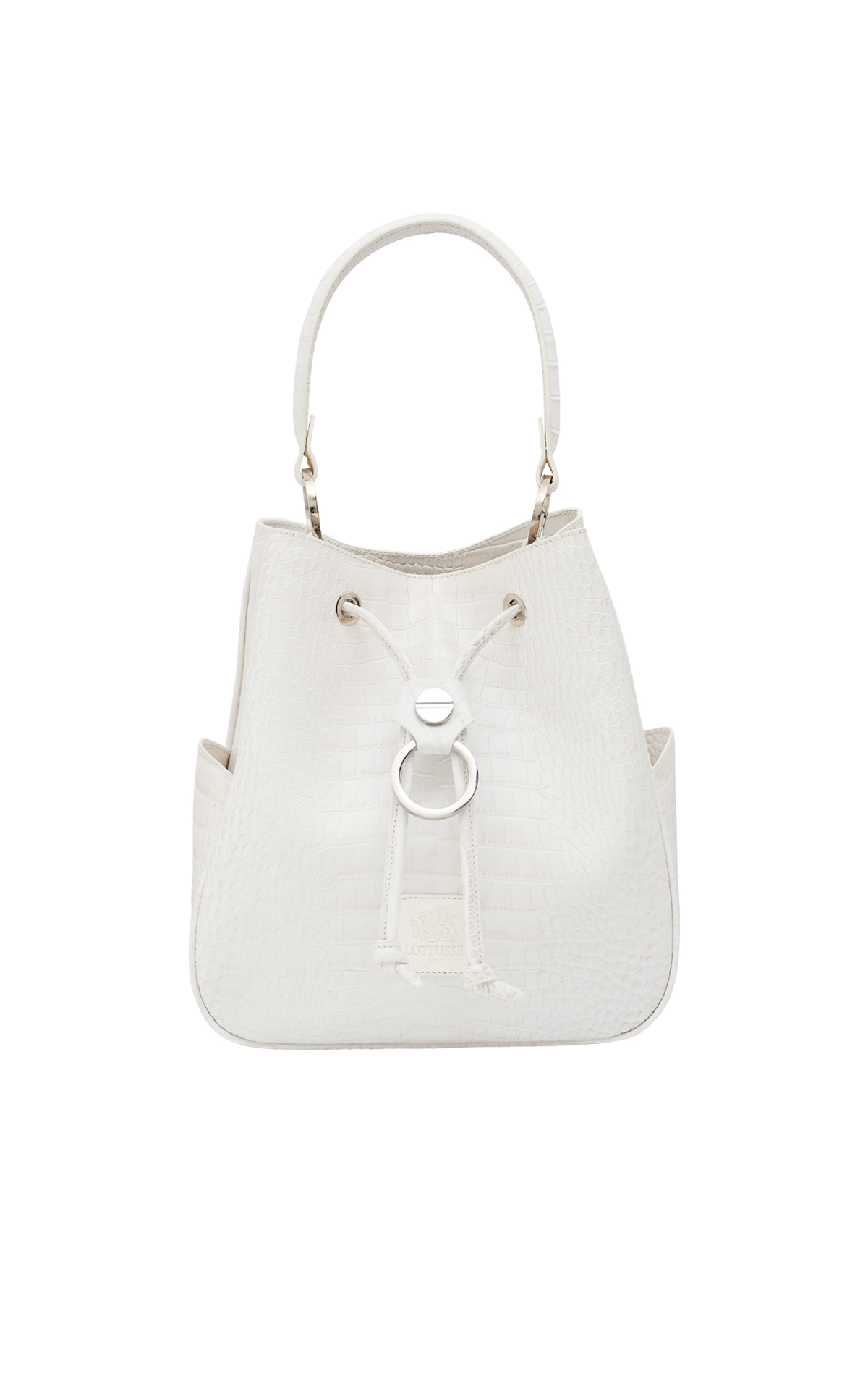 White leather bag Lottusse