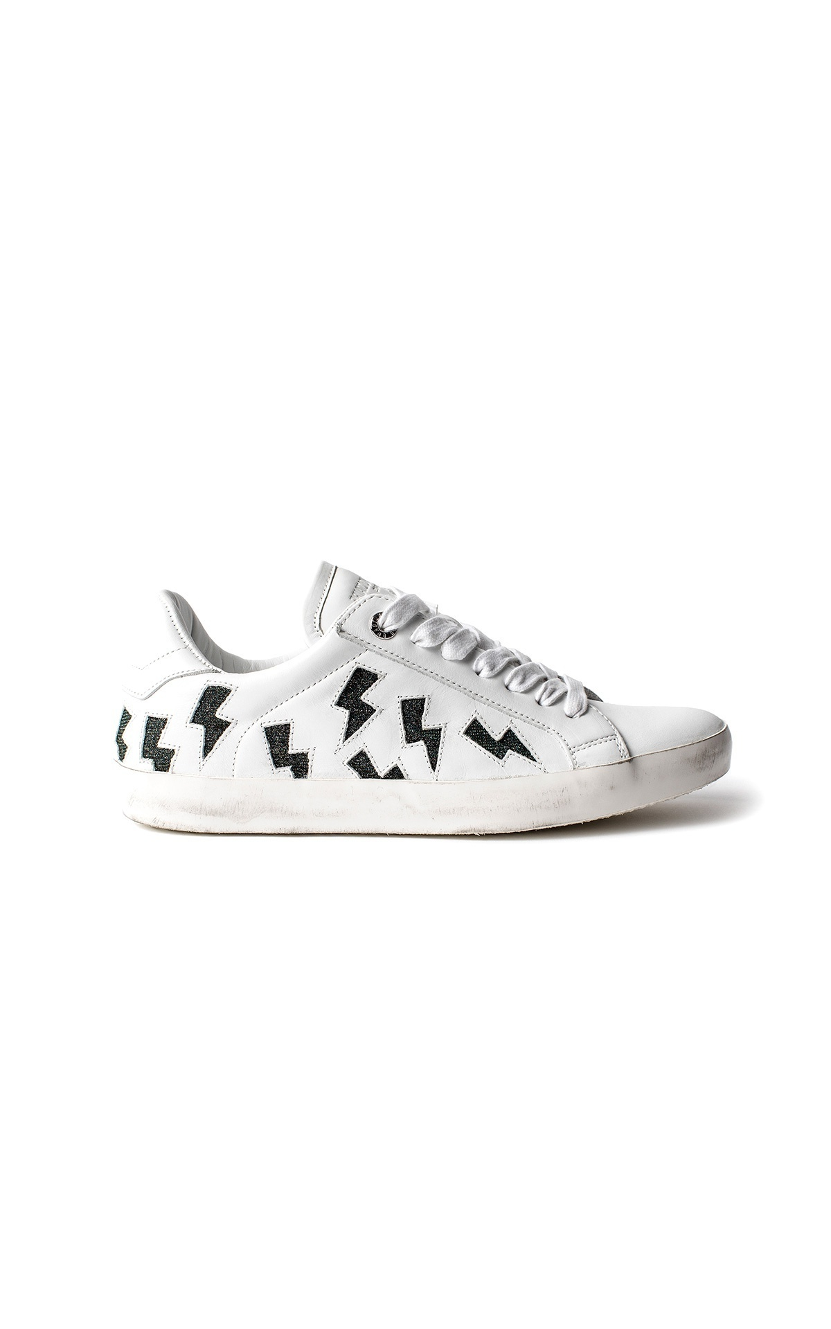 Zadig & Voltaire Women's white Flash Lurex sneakers La Vallée Village