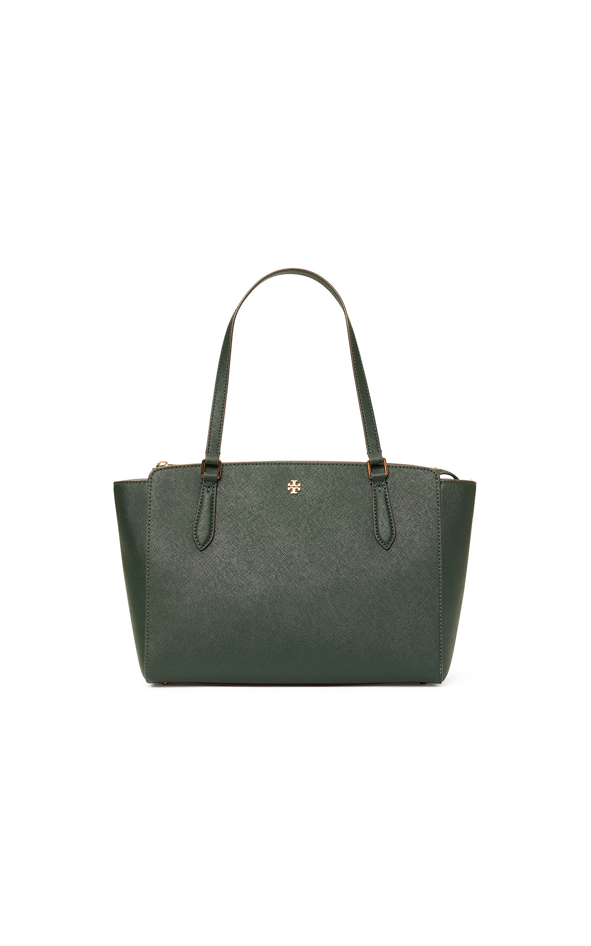 Tory Burch Emerson small top zip tote in Jitney green at The Bicester Village Shopping Collection