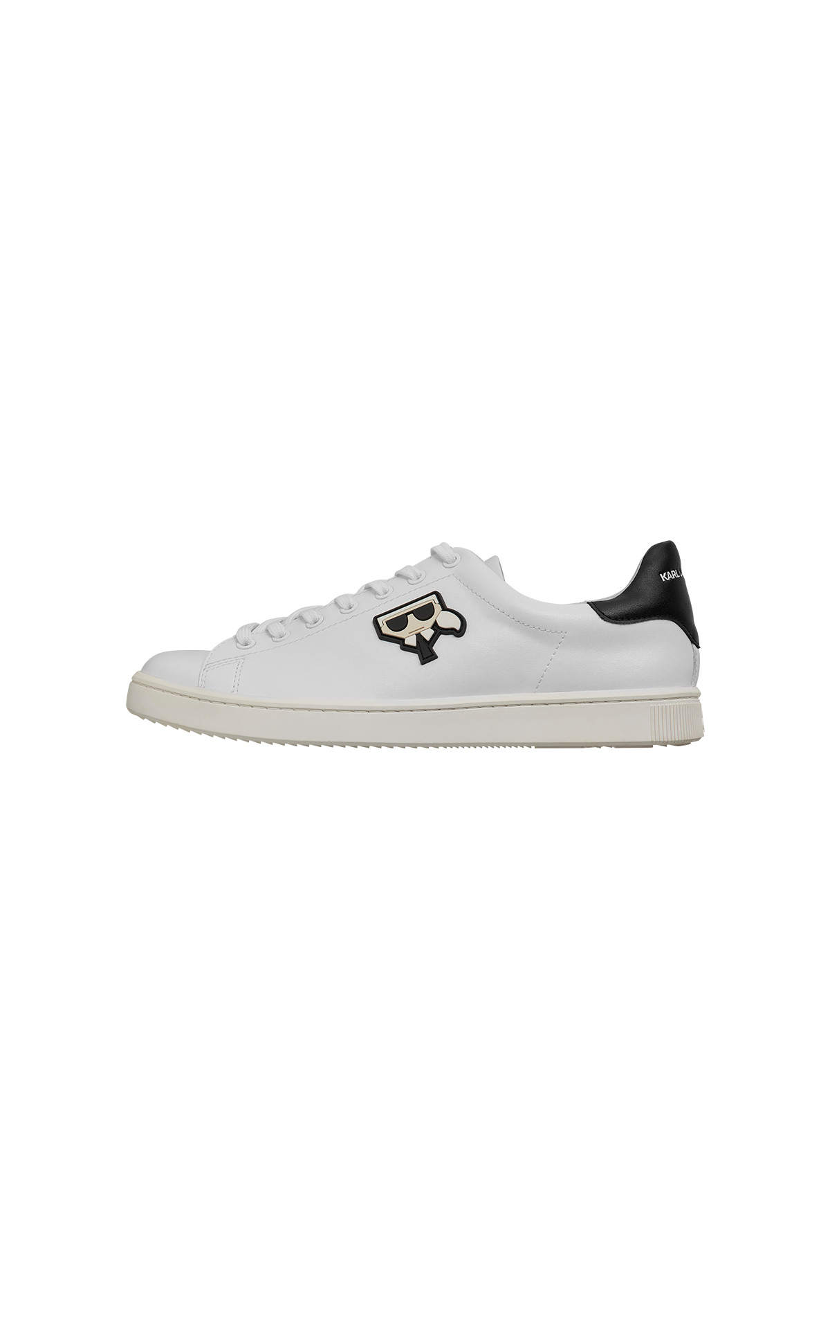 KARL LAGERFELD Kupsole Kocktail lo lace trainer at The Bicester Village Shopping Collection