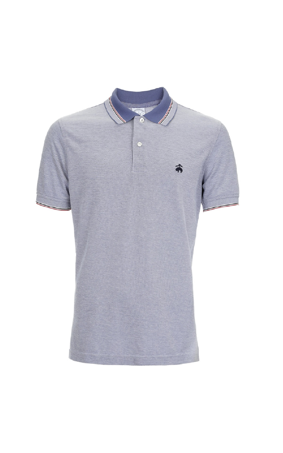 Blue Supima cotton S/S Polo shirt for man Brooks Brothers
