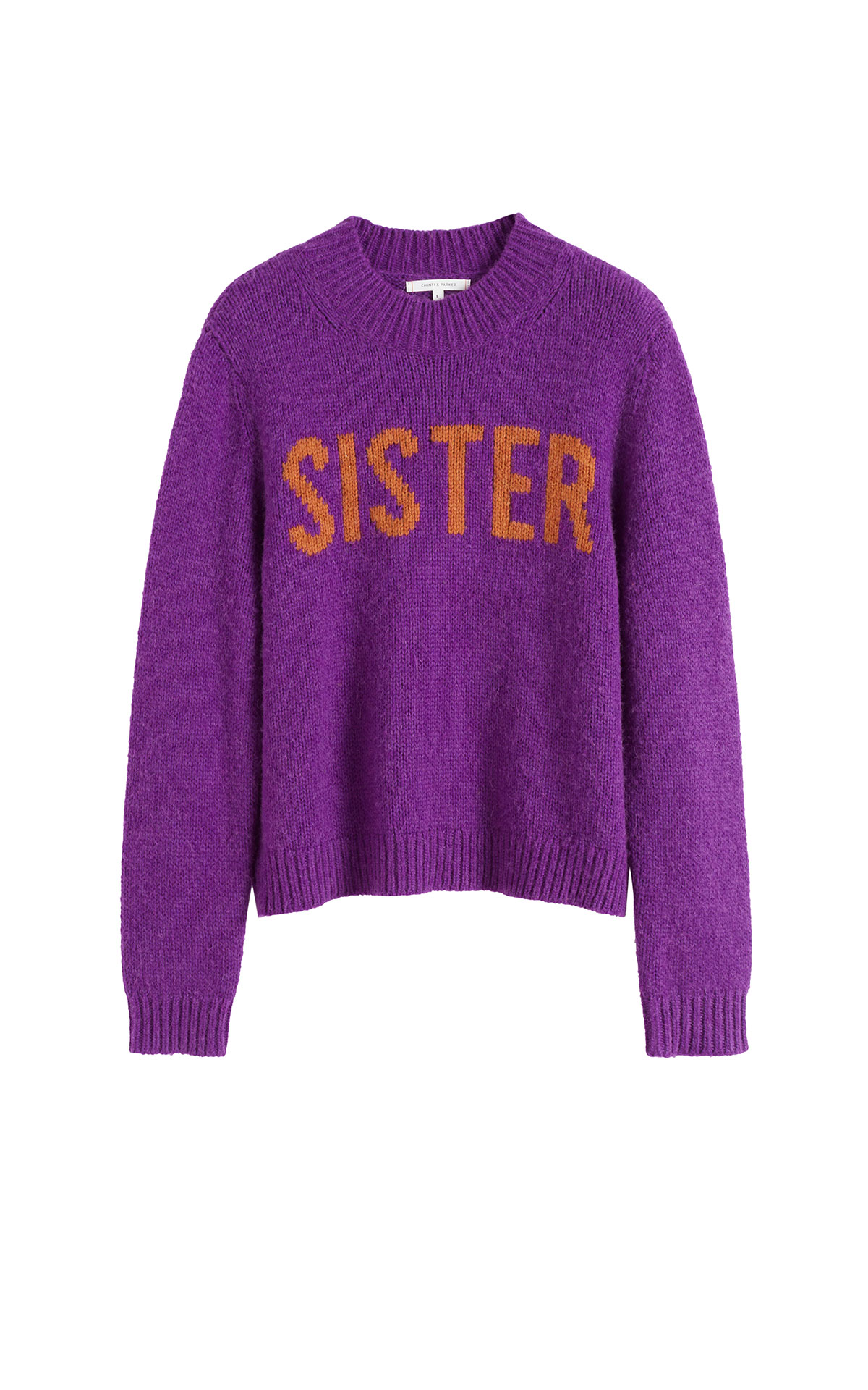 Chinti & Parker Purple sister sweater from Bicester Village