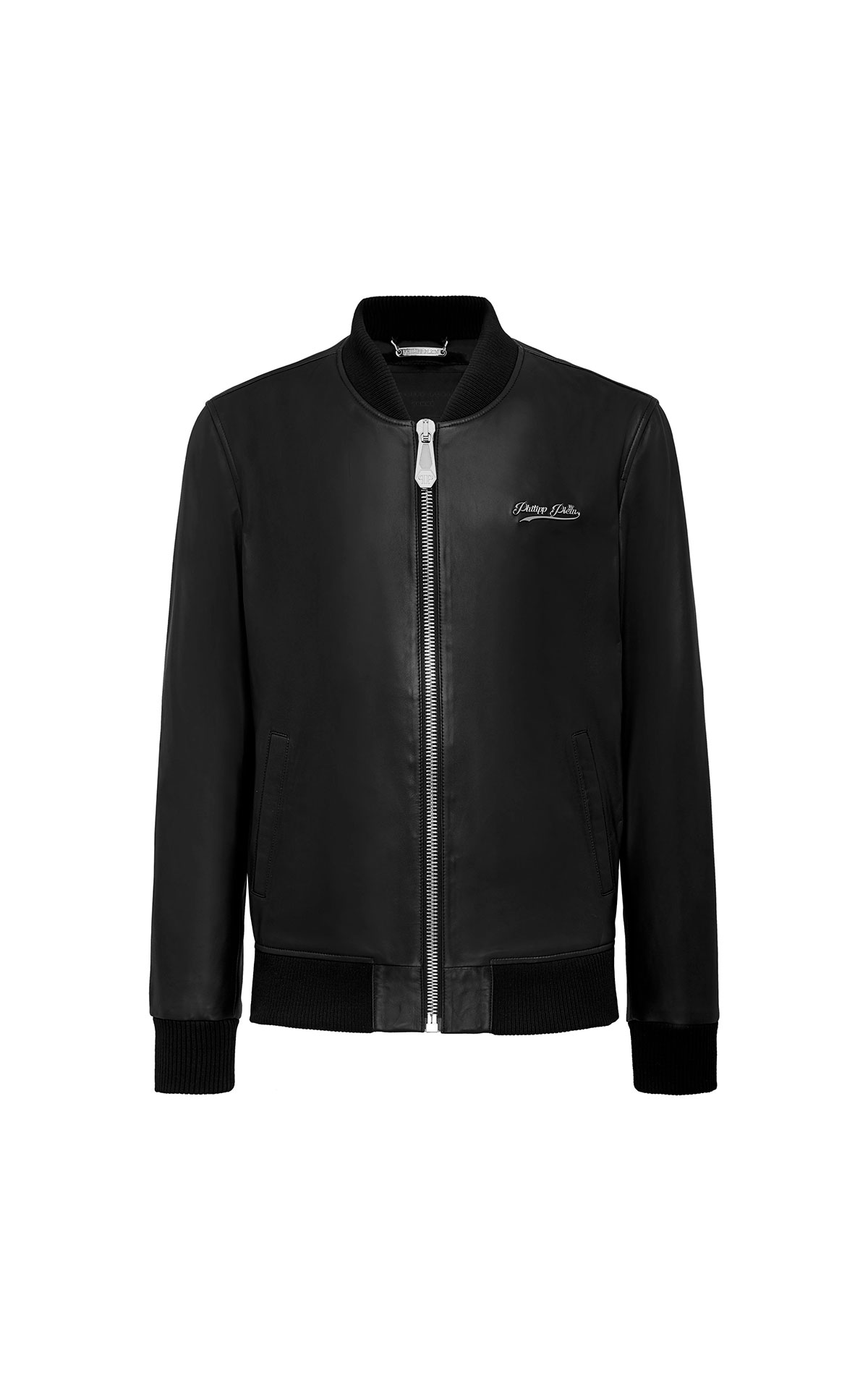 Black leather jacket for man Philipp Plein