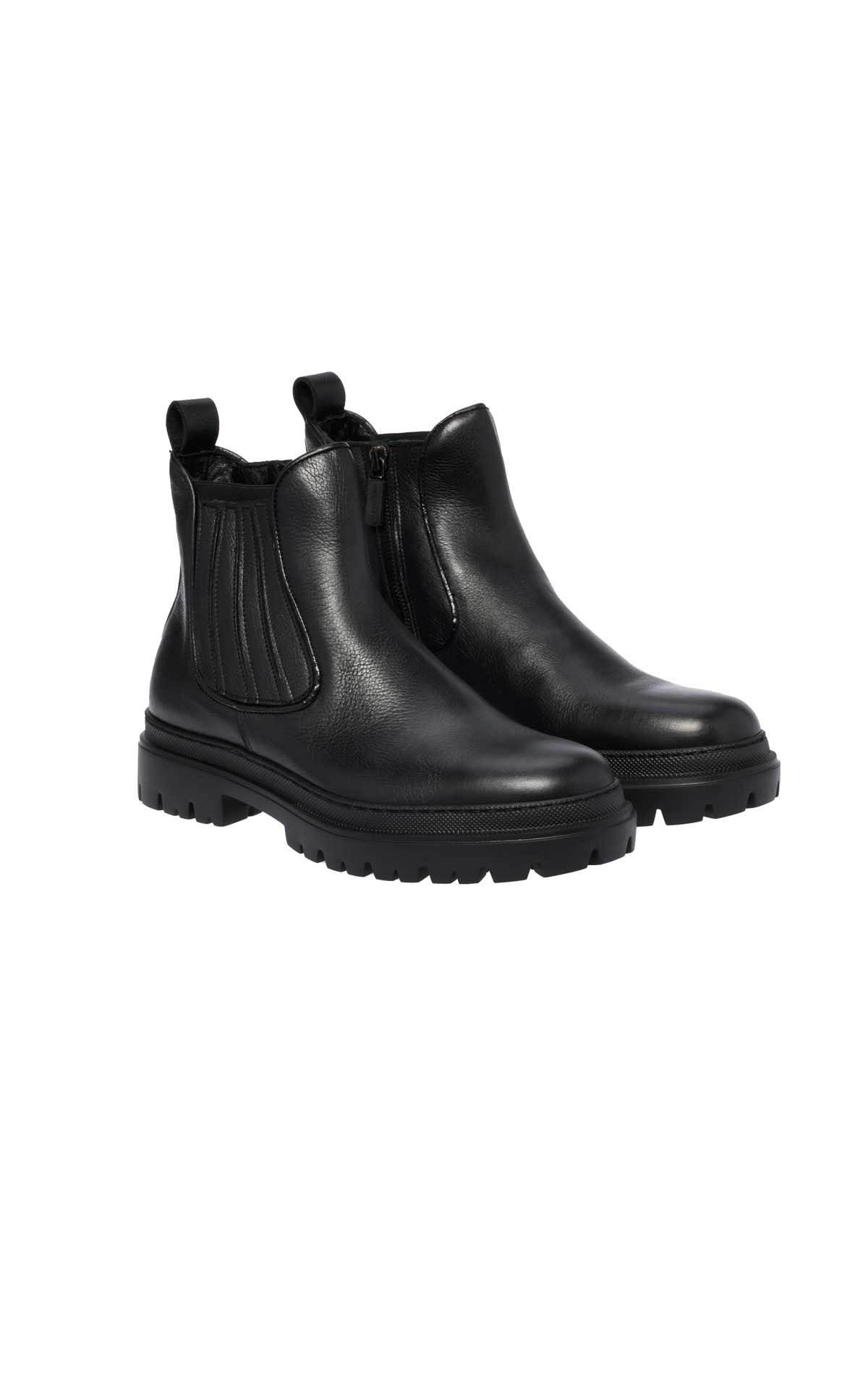 Black leather ankle boot for man Baldinini