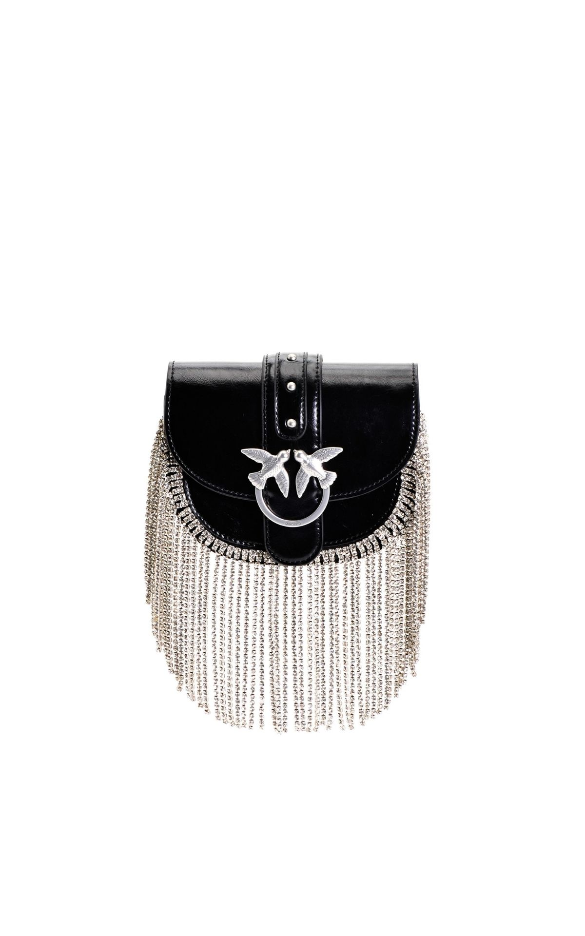 Black bag strass fringes Pinko