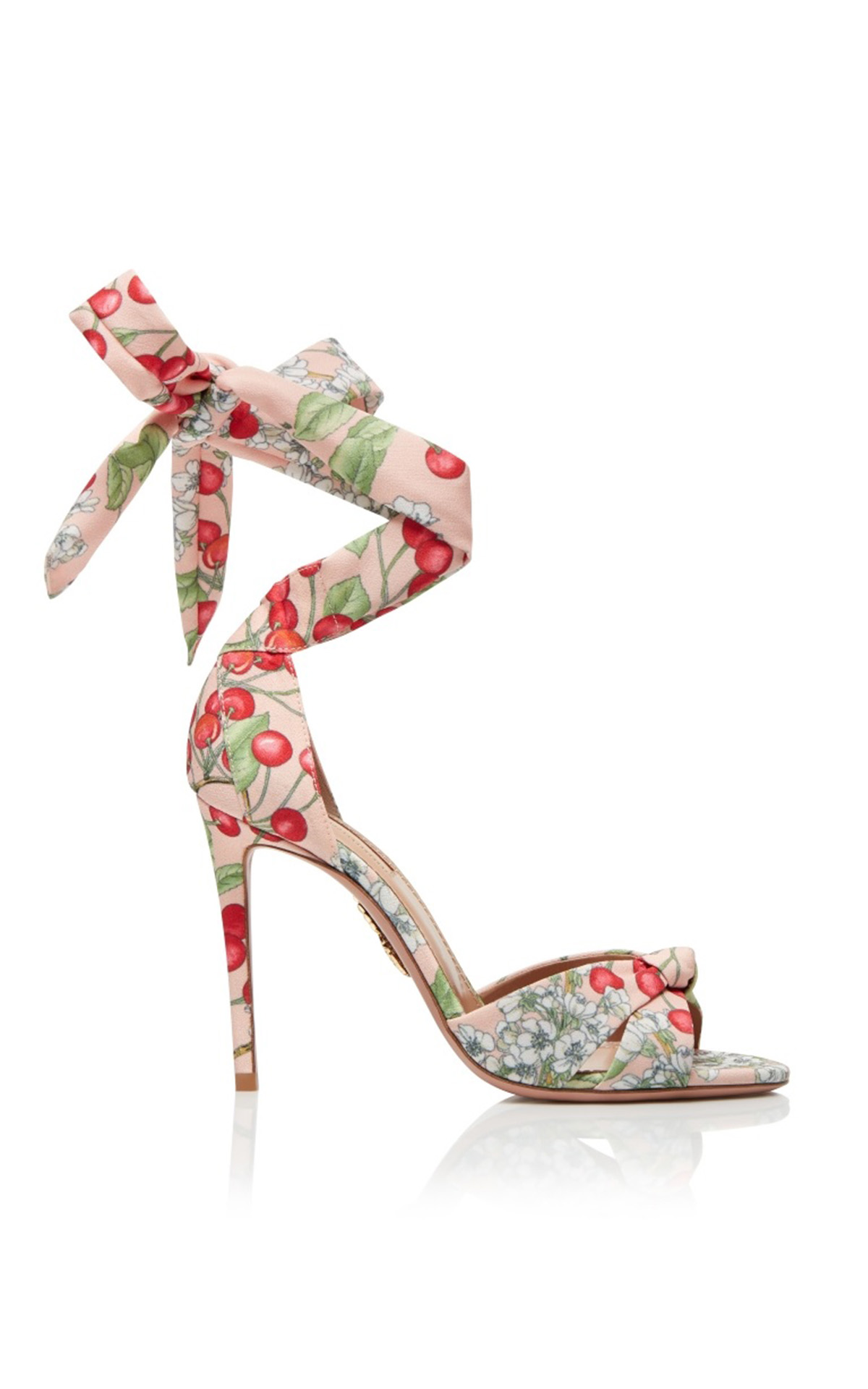 Aquazzura All tied up sandal 105 jaipur pink from Bicester Village