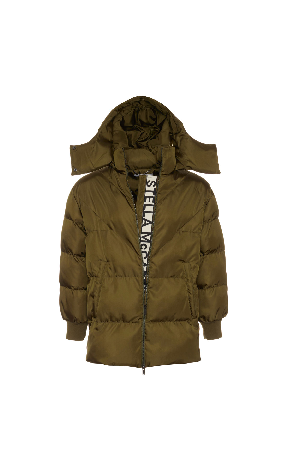 Stella McCartney Ribbon logo women's puffer jacket from Bicester Village