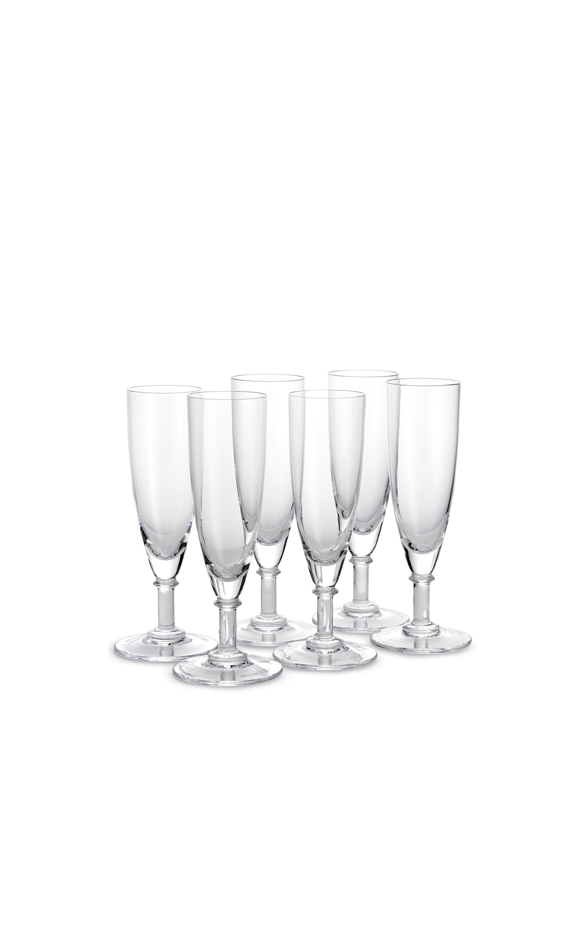 Café Wolseley Glass flutes set of 6 from Bicester Village