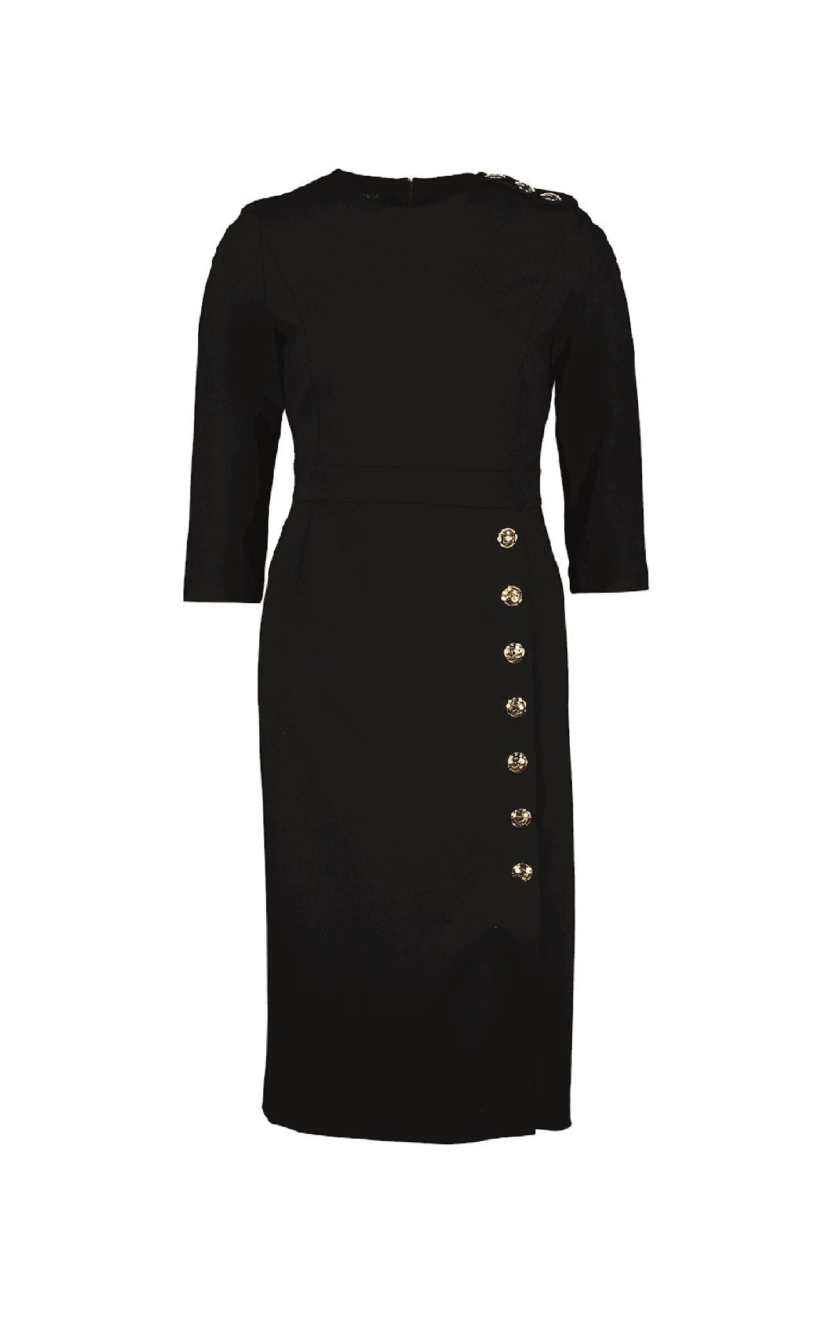 Long black dress with buttons Escada