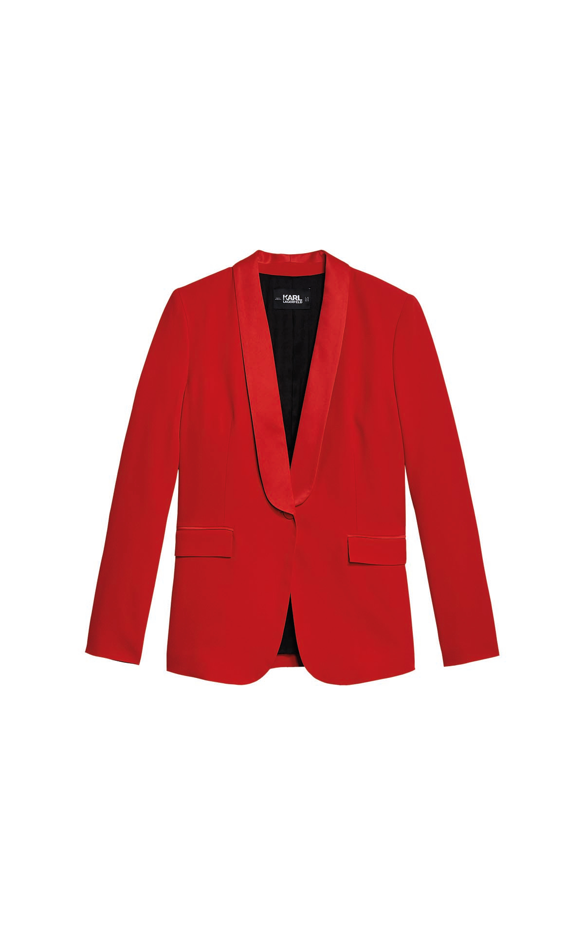 Red Tailored blazer Karl Lagerfeld