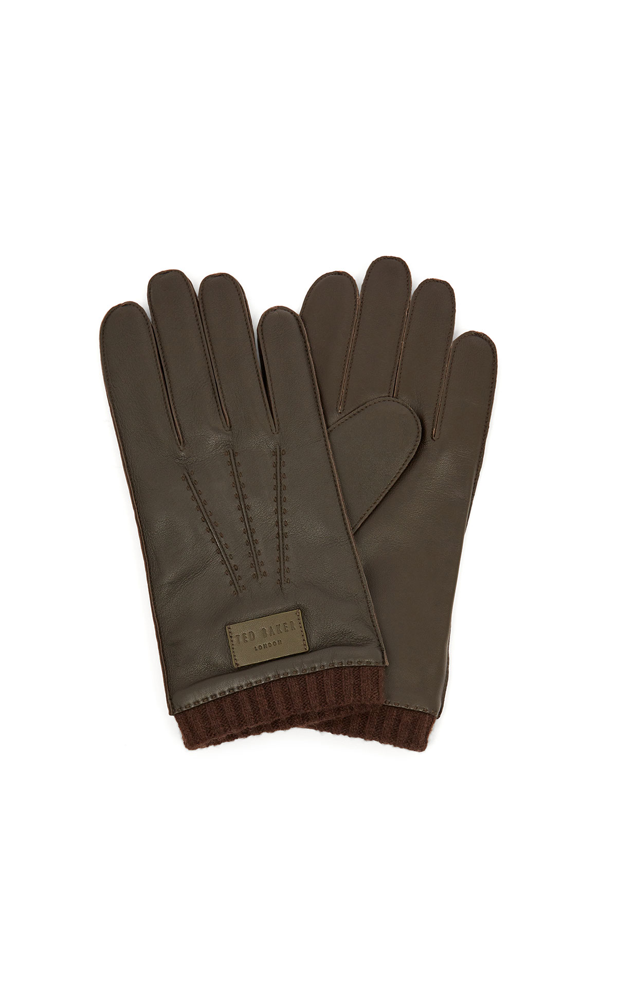 Ted Baker leather stab stitched gloves at The Bicester Village Shopping Collection
