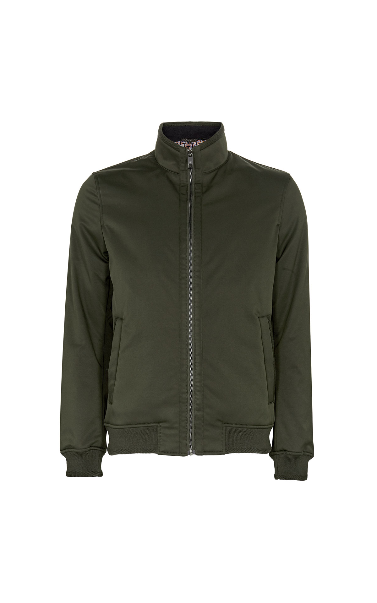 Ted Baker Yeppers khaki wadded bomber jacket from Bicester Village
