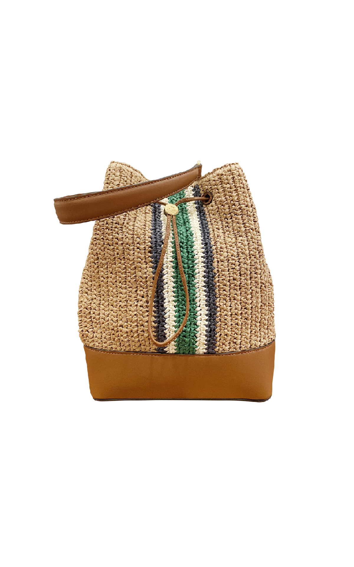 Beige bucket bag with stripes Polo Ralph Lauren