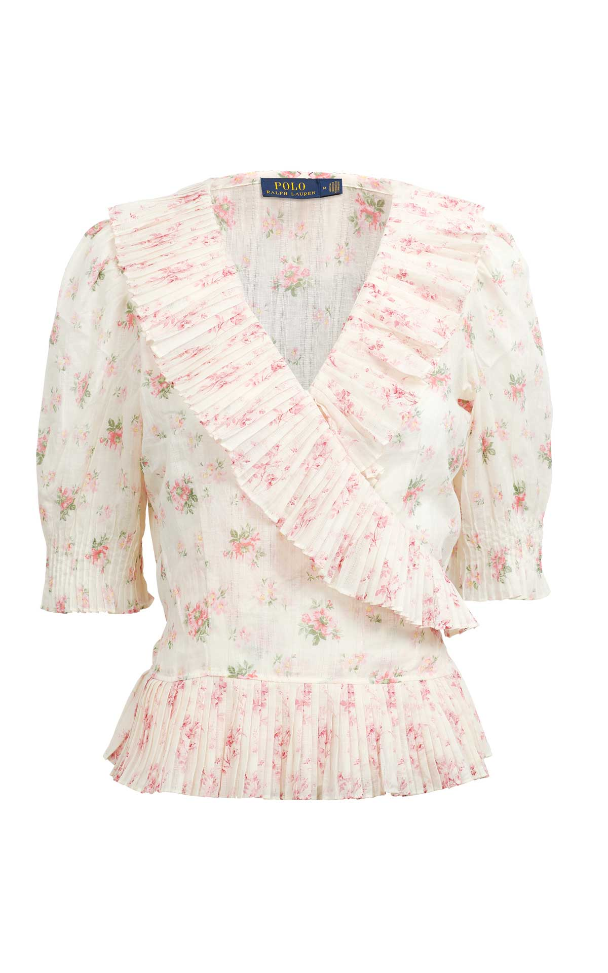 White blouse with flowers Polo Ralph Lauren