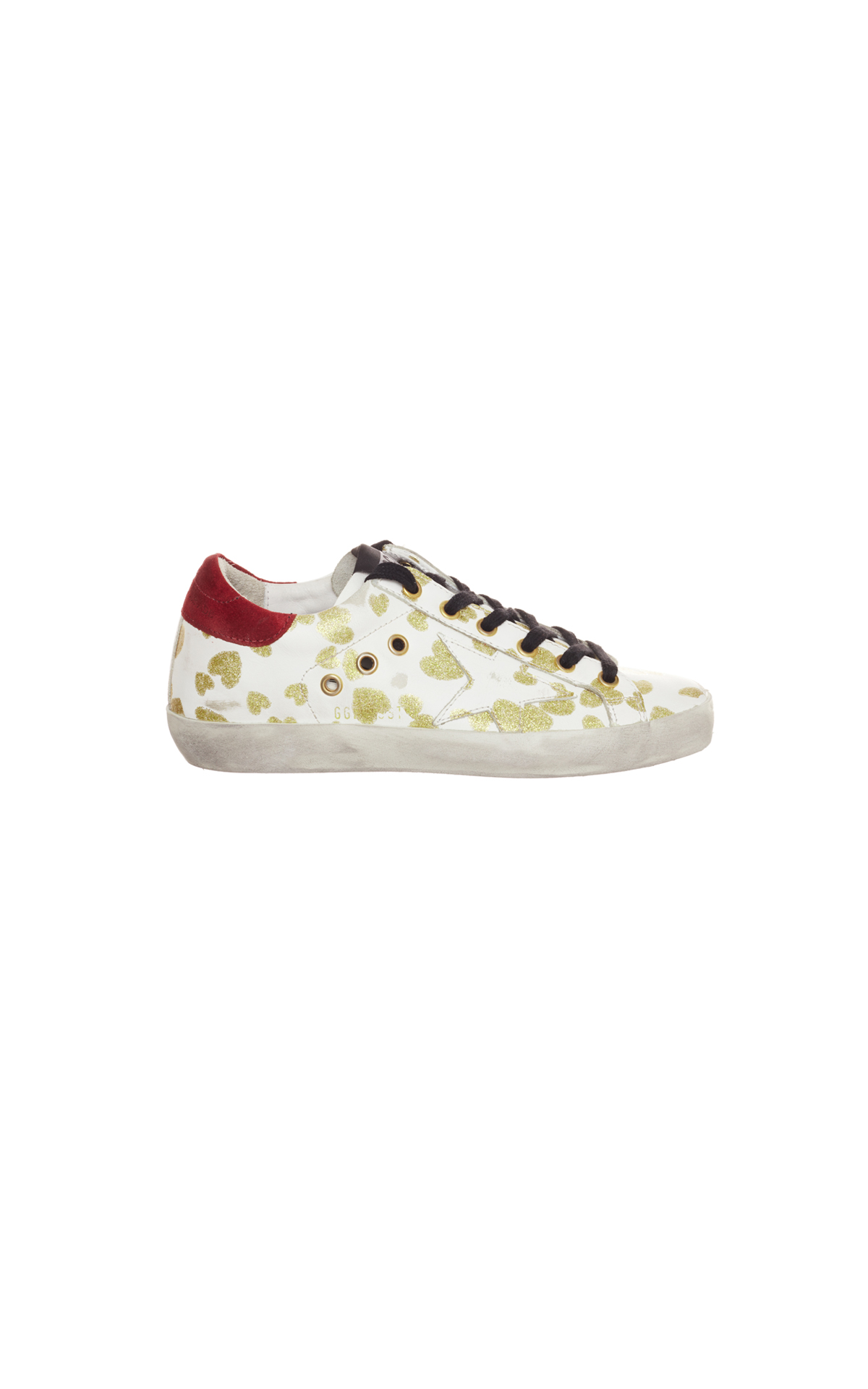 Golden Goose Golden drifted hearts superstar from Bicester Village