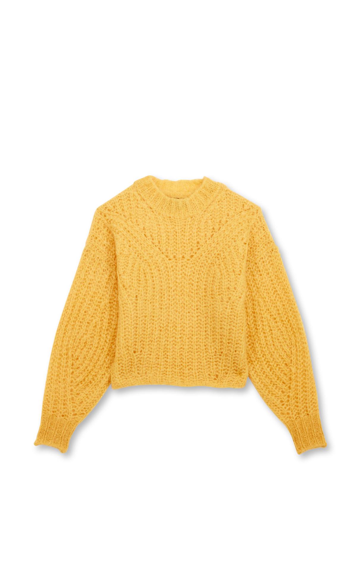 Isabel Marant Inko yellow rib-knit jumper