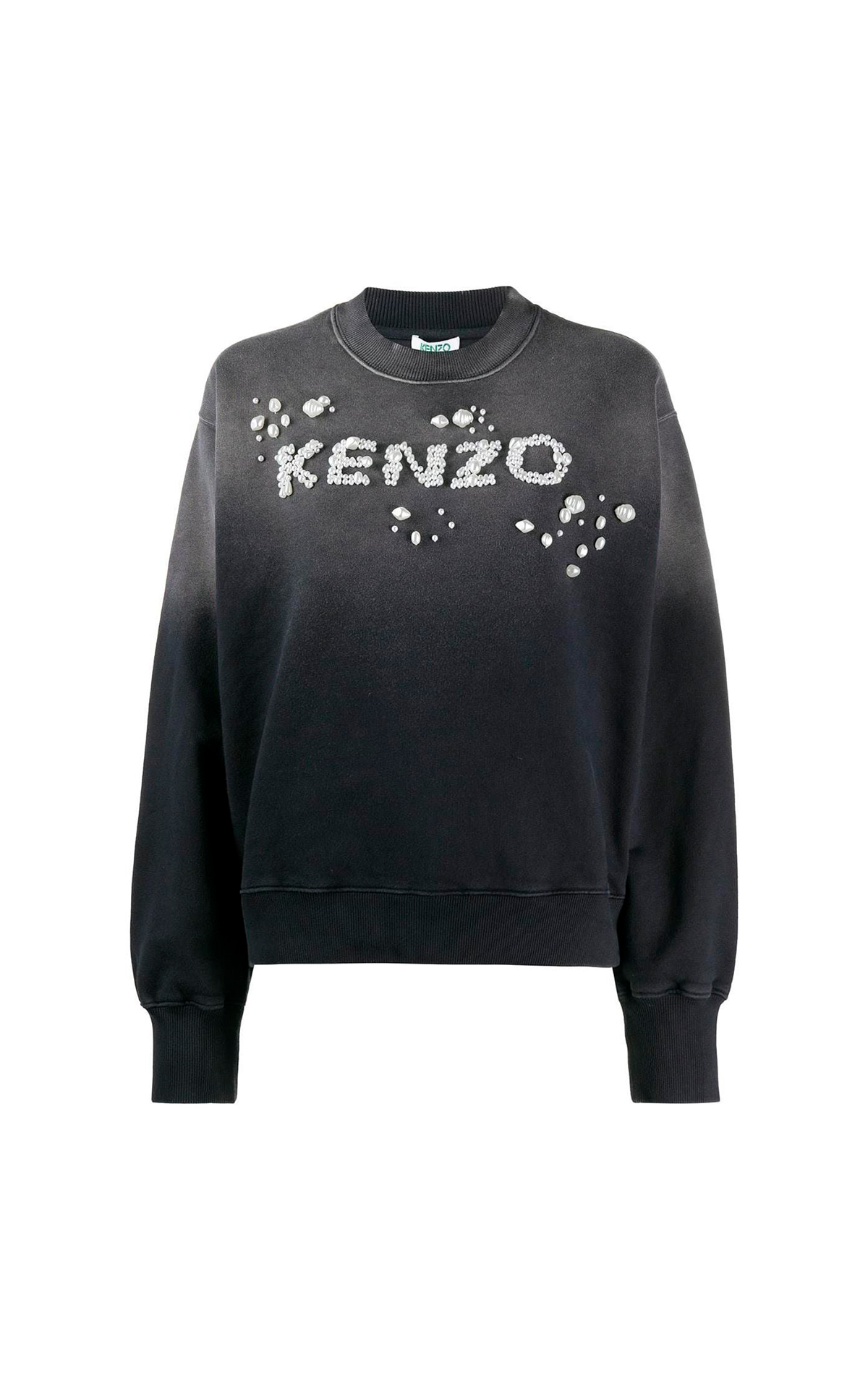 Black sweatshirt with logo and pearls Kenzo