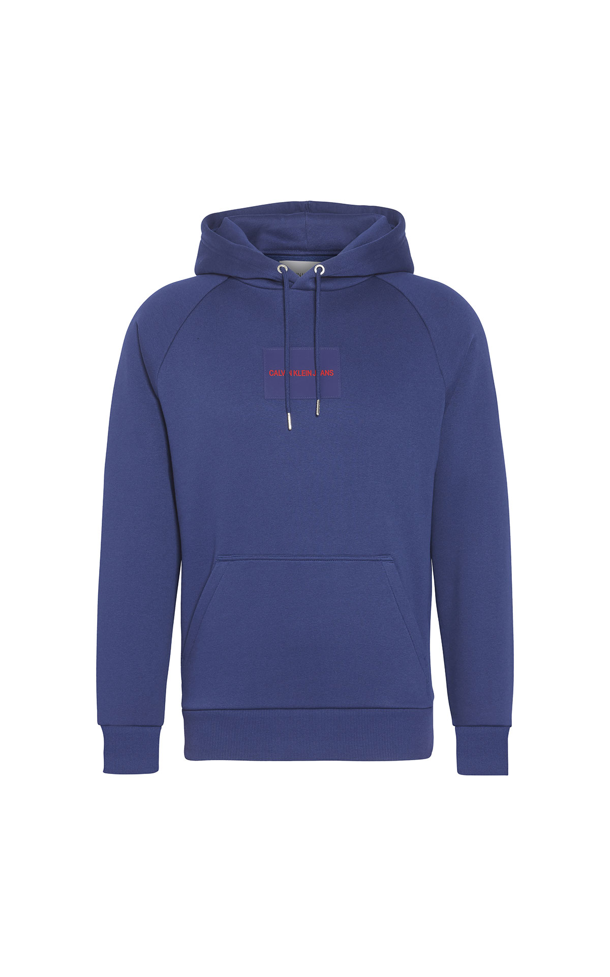 Calvin Klein Jeans Logo patch hoody medieval blue from Bicester Village