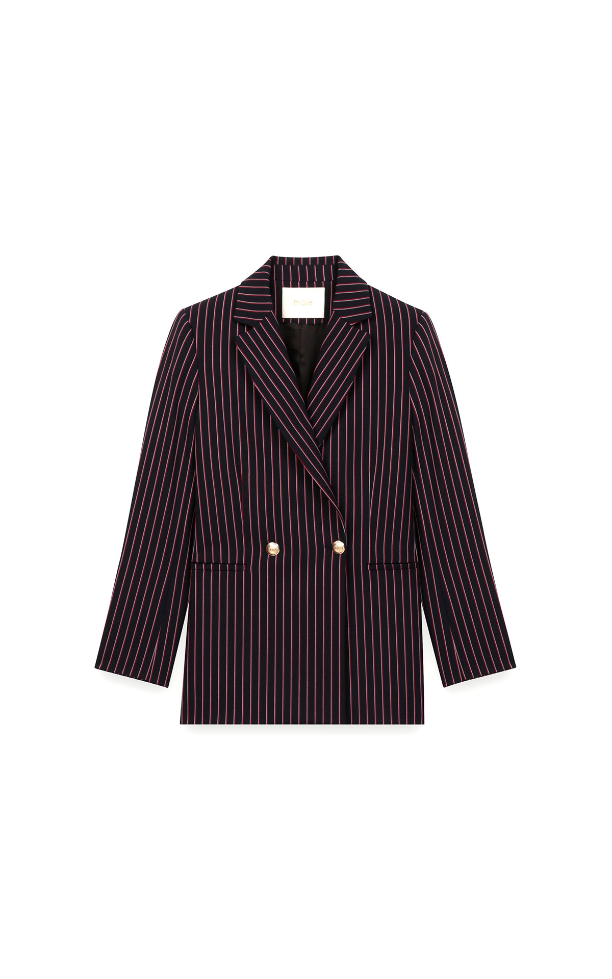 Maje striped double-breasted jacket at The Bicester Village Shopping Collection
