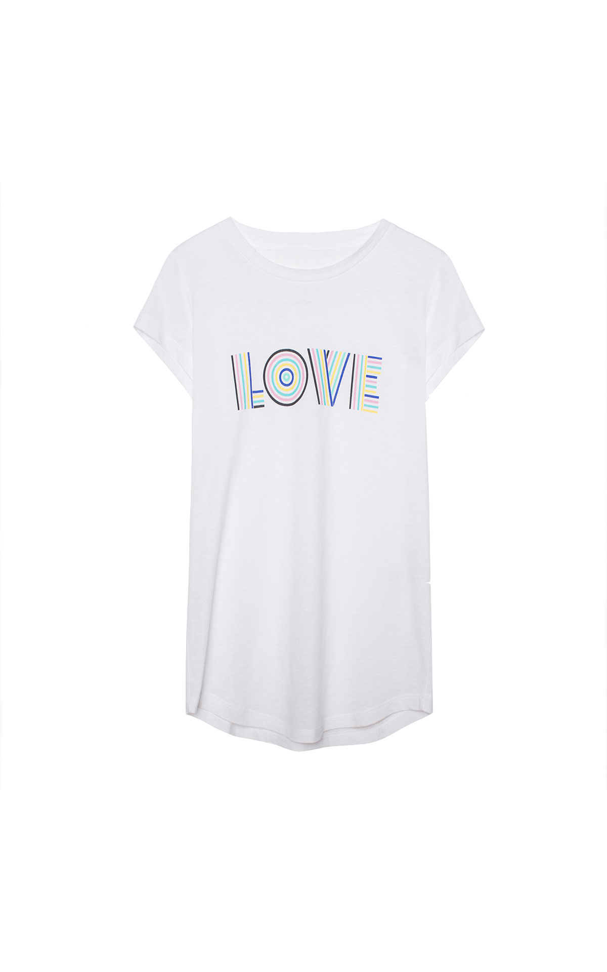 Zadig & Voltaire White love tee from Bicester Village
